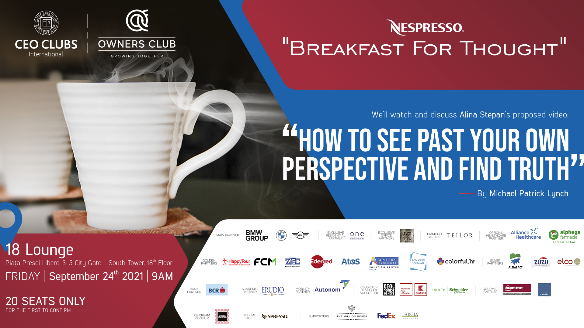 CEO Clubs & Owners Club Breakfast for Thought