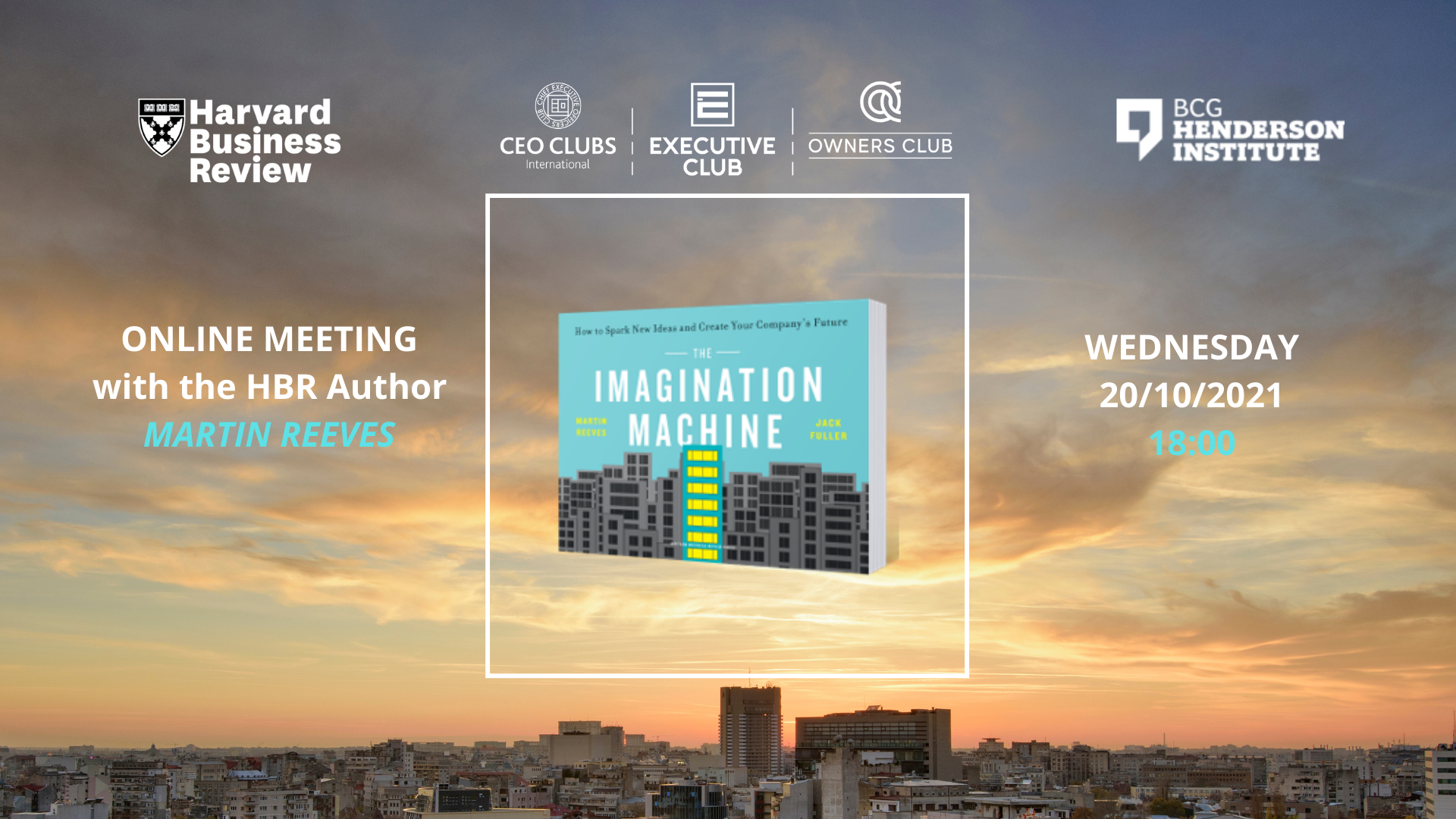 CEO Clubs & Harvard Business Review - Invitation to imagination