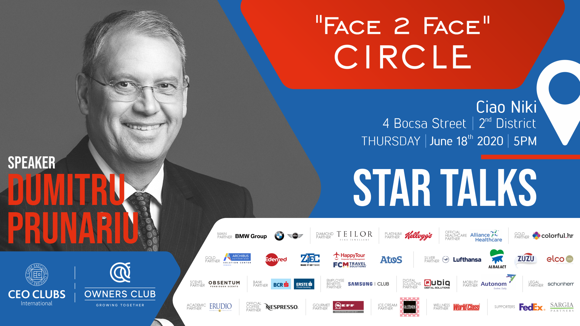 """Face 2 Face"" Circle - Star Talks (Available on live streaming as well)"