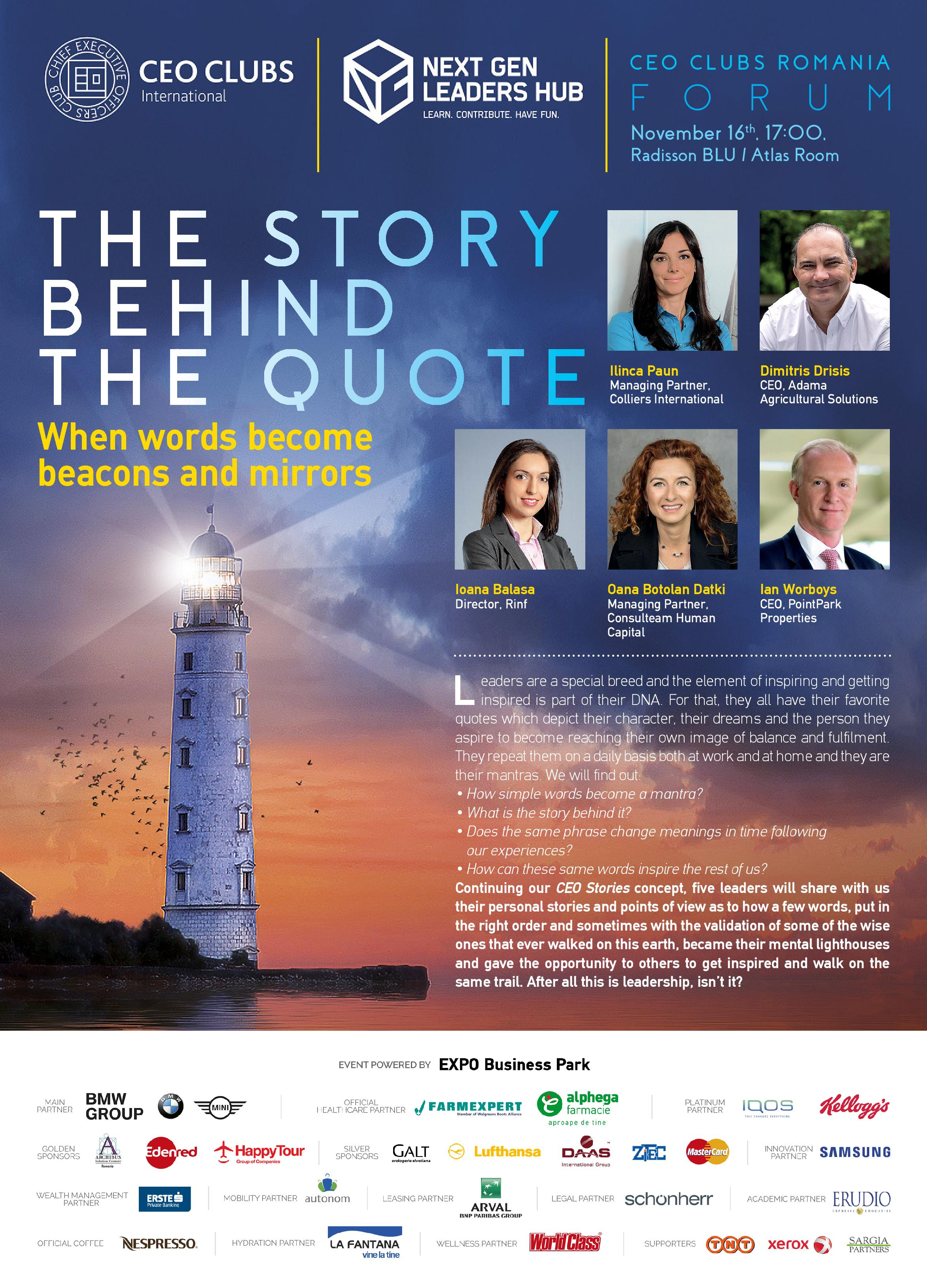 12th Forum: The Story Behind the Quote