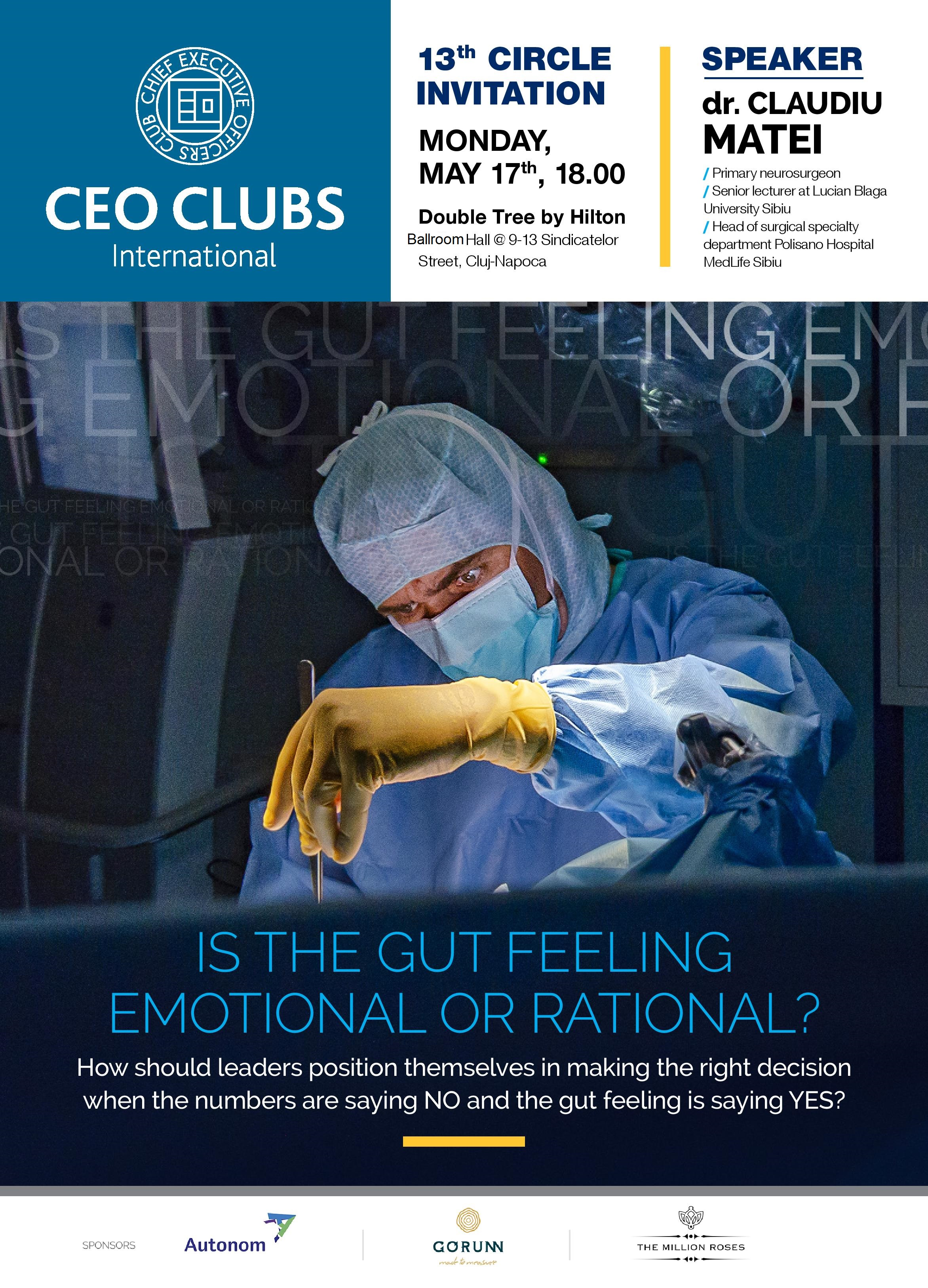 13th Circle: Is the gut feeling emotional or rational?
