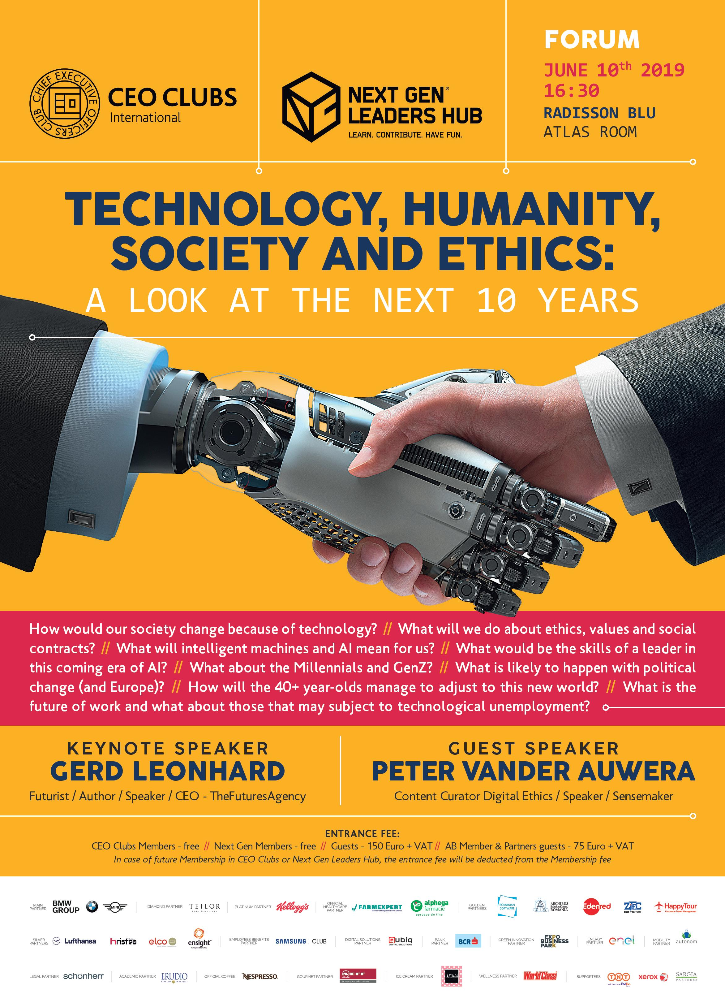 15th Forum: Technology, humanity, society and ethics: A look at the next 10 years