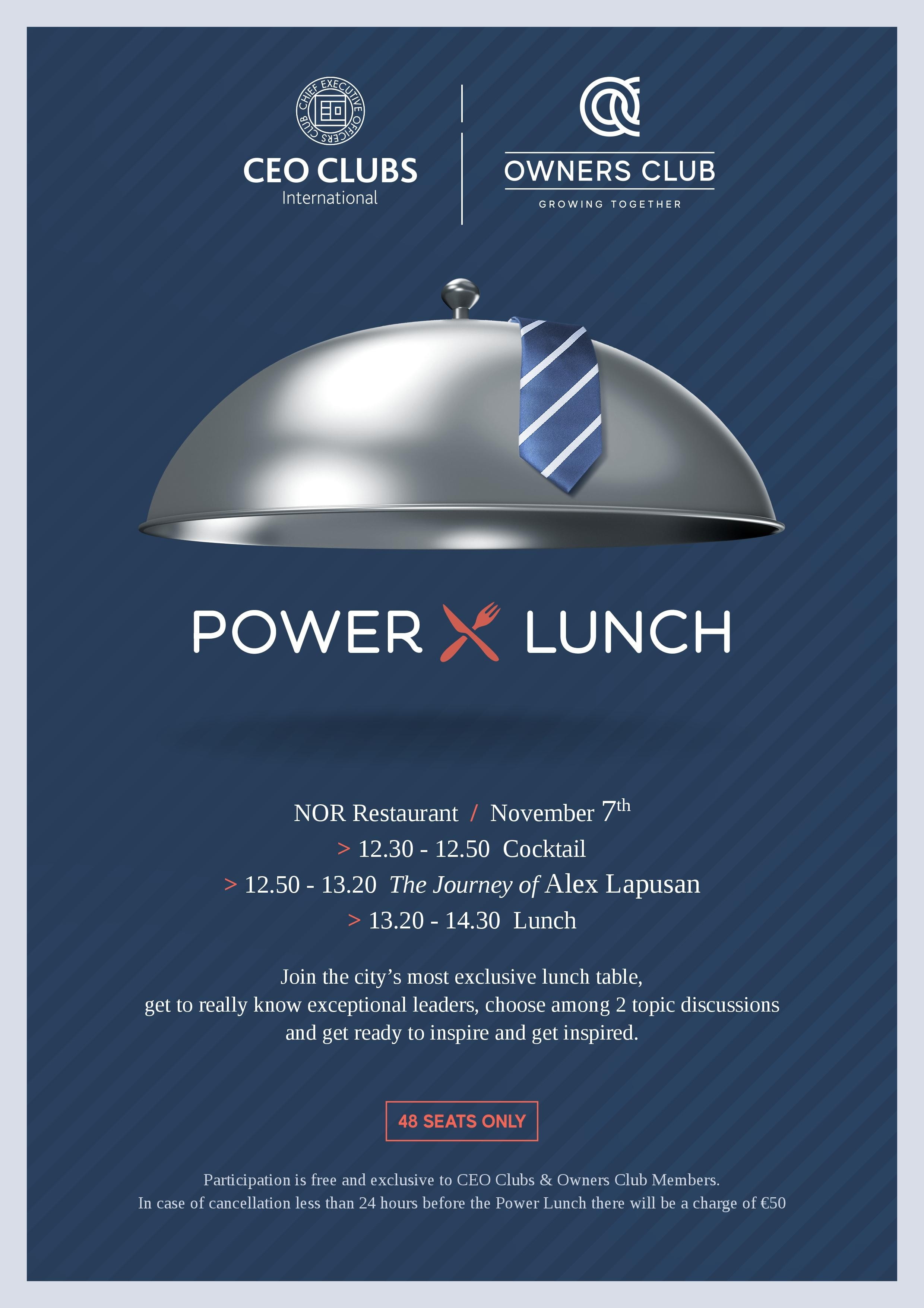 1st CEO Clubs & Owners Club Power Lunch