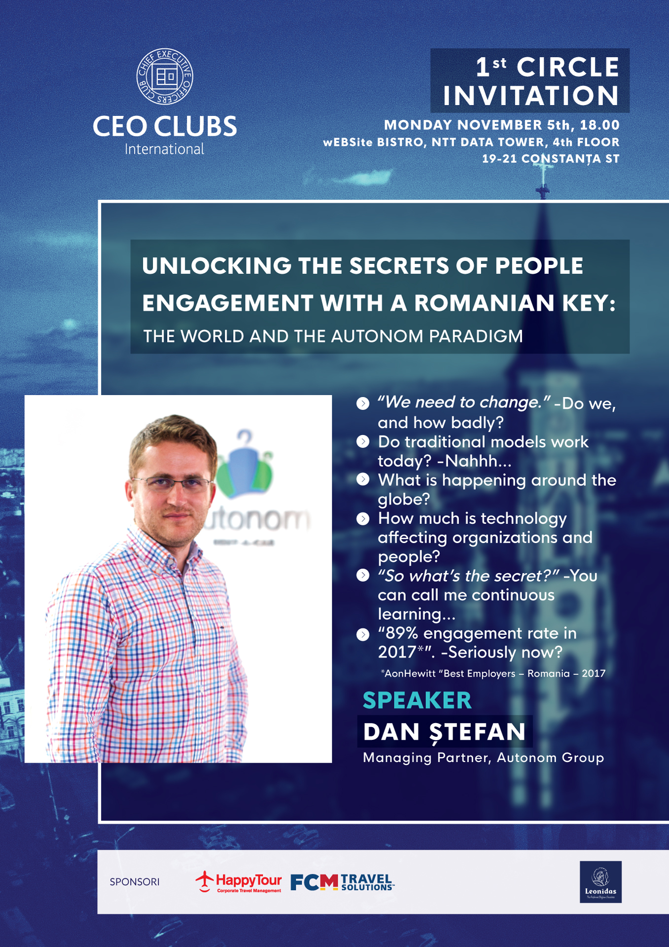 1st Circle: Unlocking the secrets of people with a Romanian key: The World and the AUTONOM paradigm