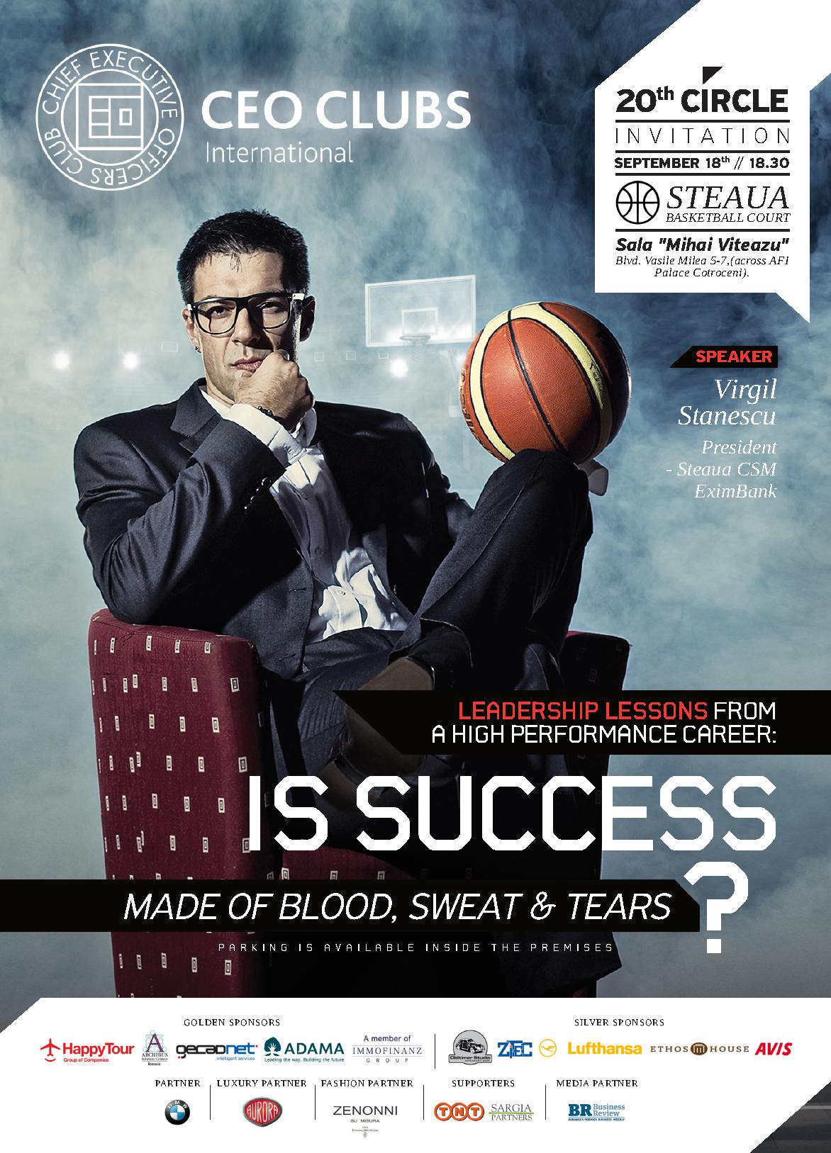 20th Circle: Is Succeess Made of Blood, Sweat & Tears?