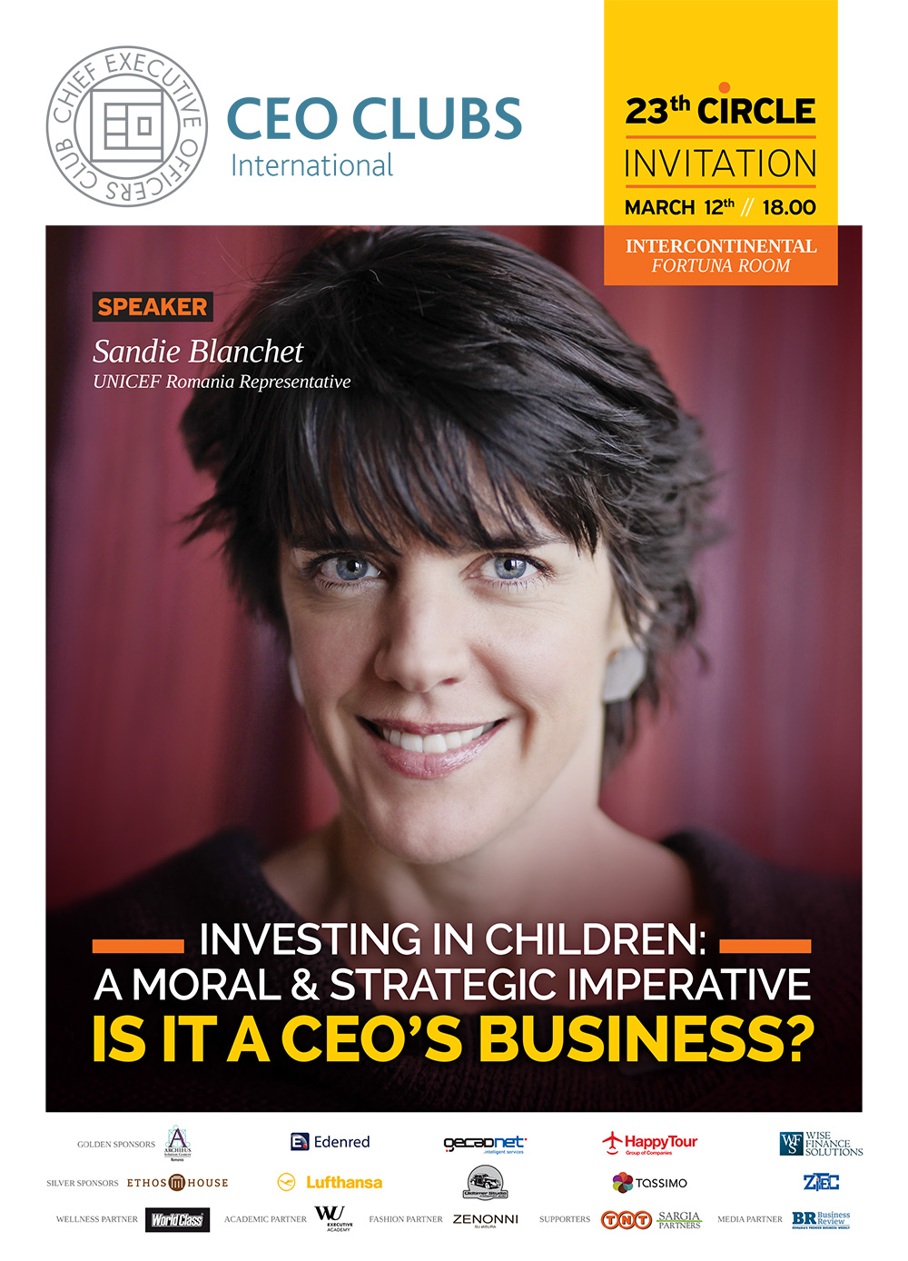 23rd Circle: Investing in Children: A Moral & Strategic Imperative, Is it a CEO's Business?