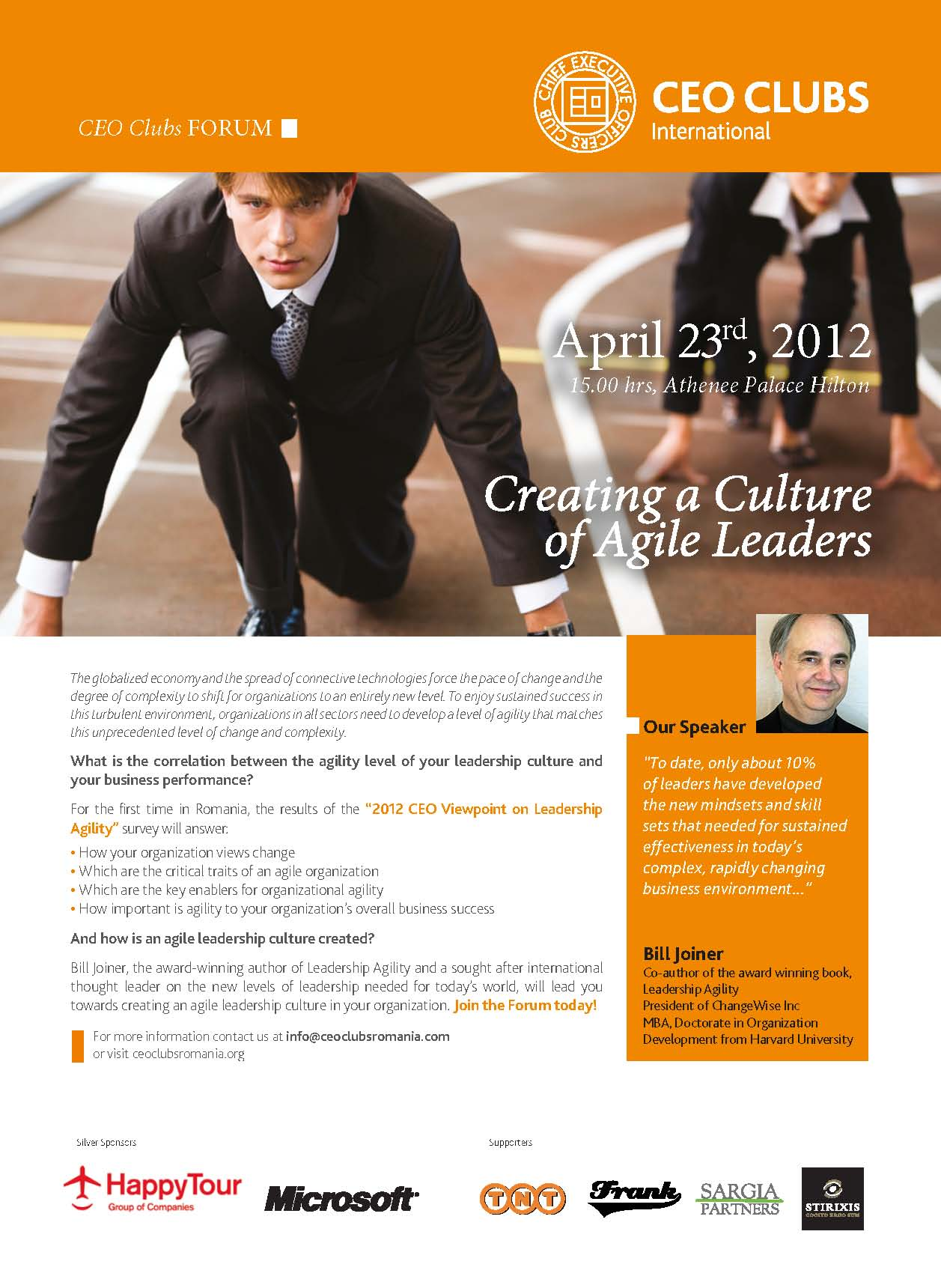 2nd Forum: Creating a Culture of Agile Leaders