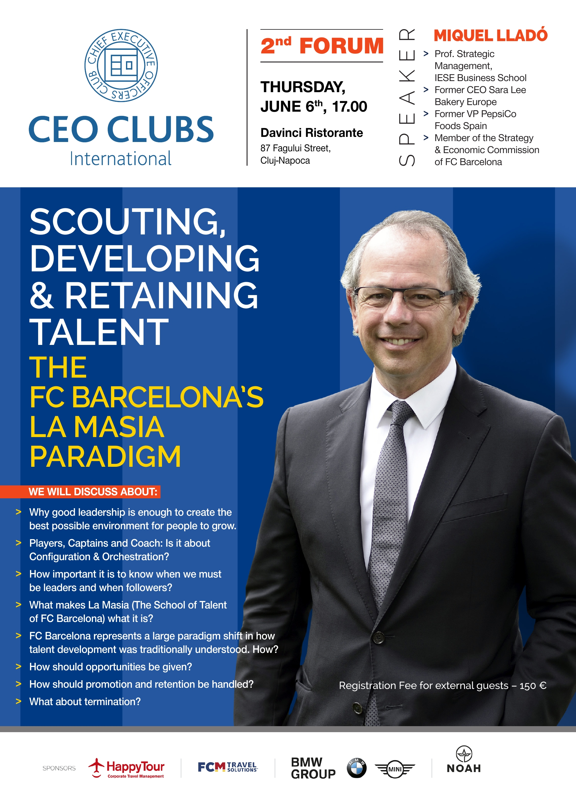 2nd Forum: Scouting, Developing & Retaining Talent: THE FC BARCELONA'S LA MASIA PARADIGM