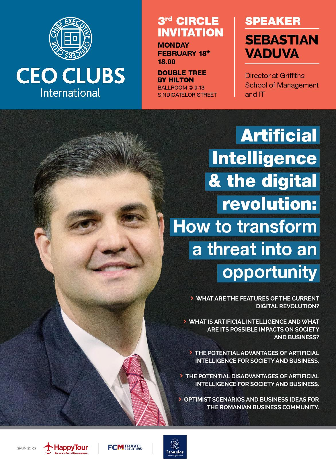 3rd Circle: Artificial Intelligence & the digital revolution: How to transform a threat into an opportunity
