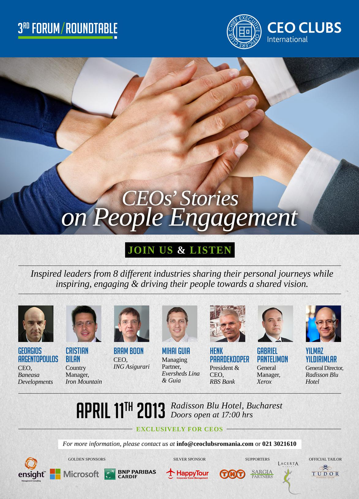 3rd Forum: CEOs' Stories on People Engagement