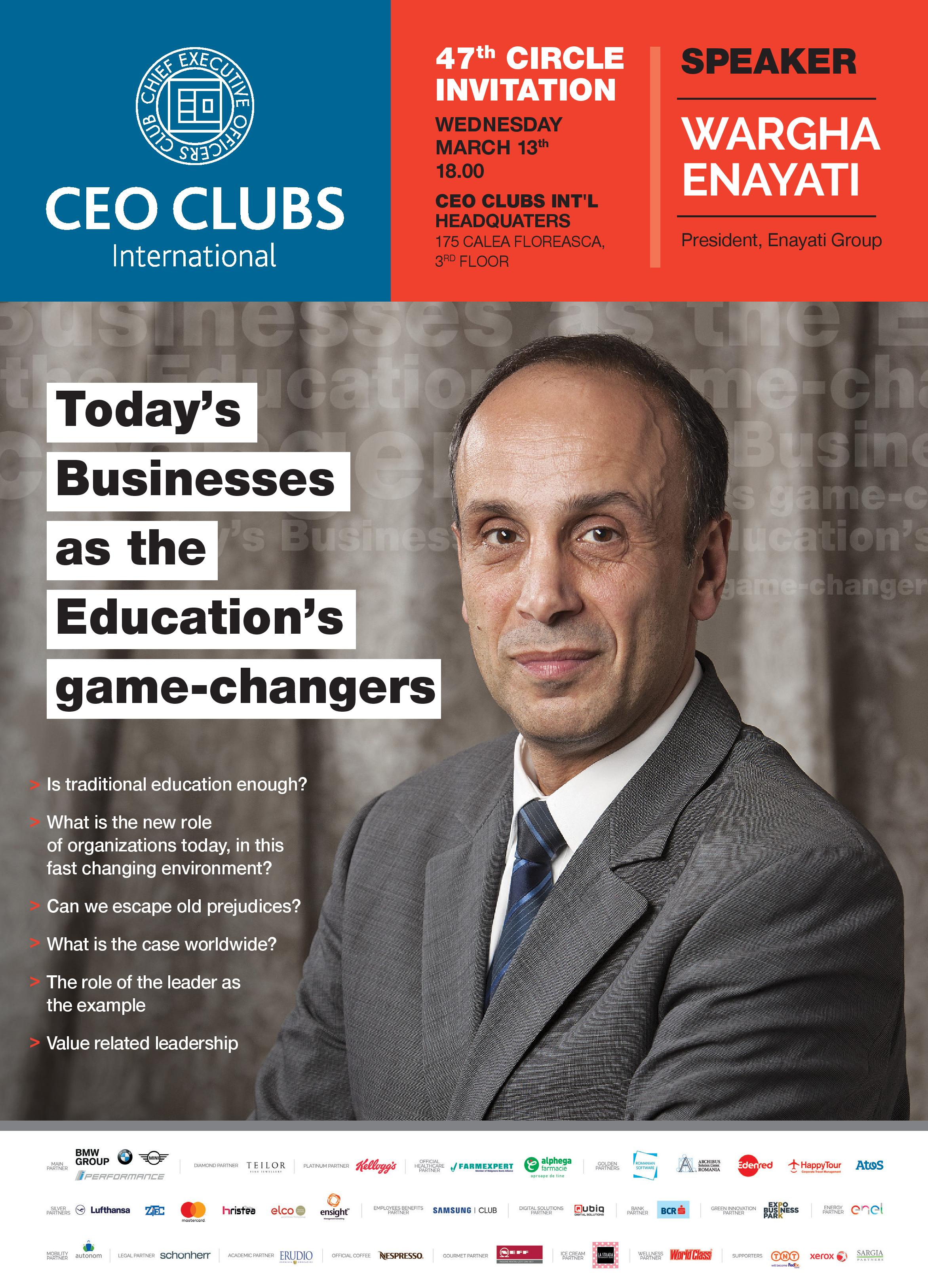 47th Circle: Today's Businesses as the Education's game-changers