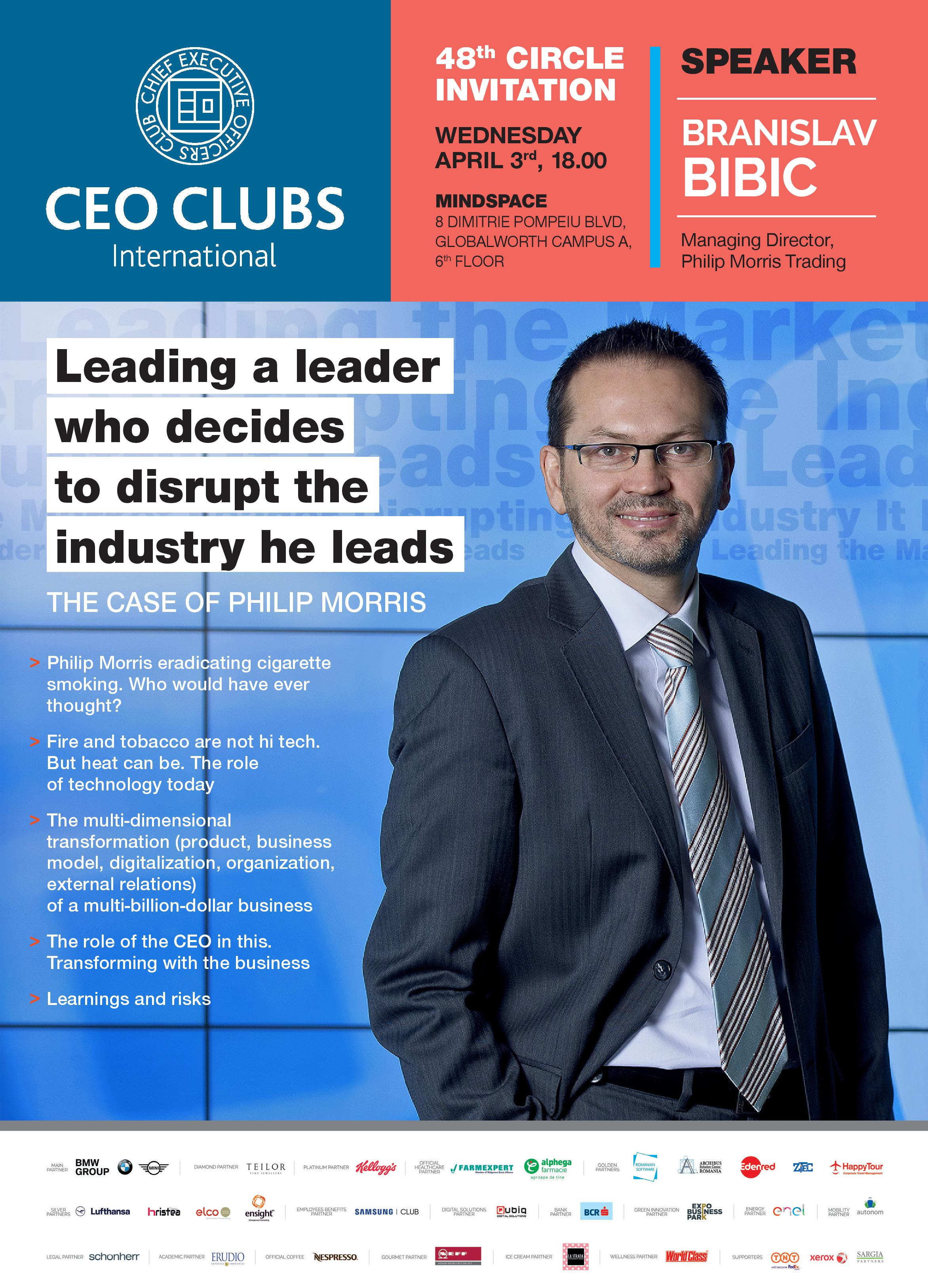 48th Circle: Leading a leader who decides to disrupt the industry he leads