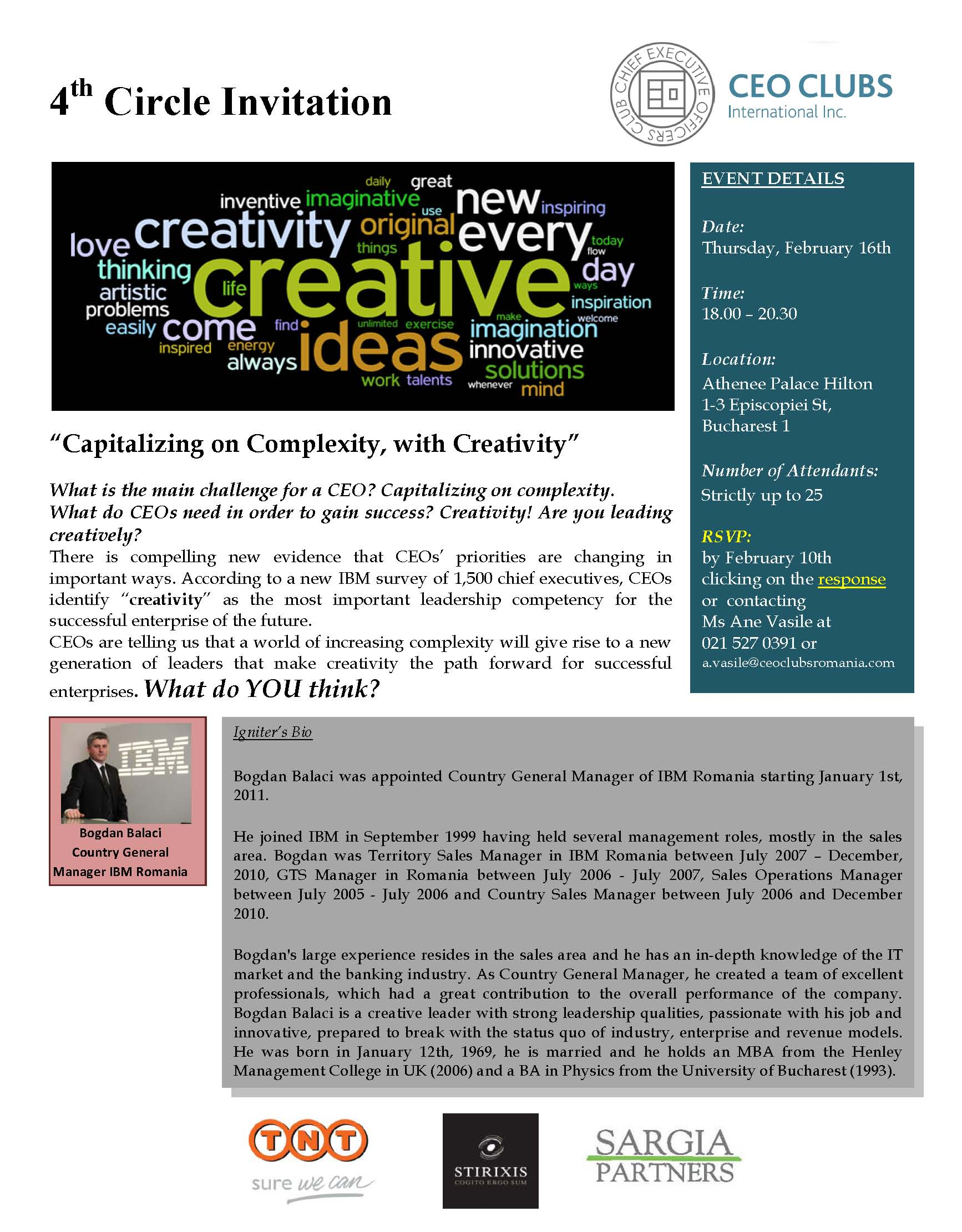 4th Circle: Capitalizing on Complexity, with Creativity