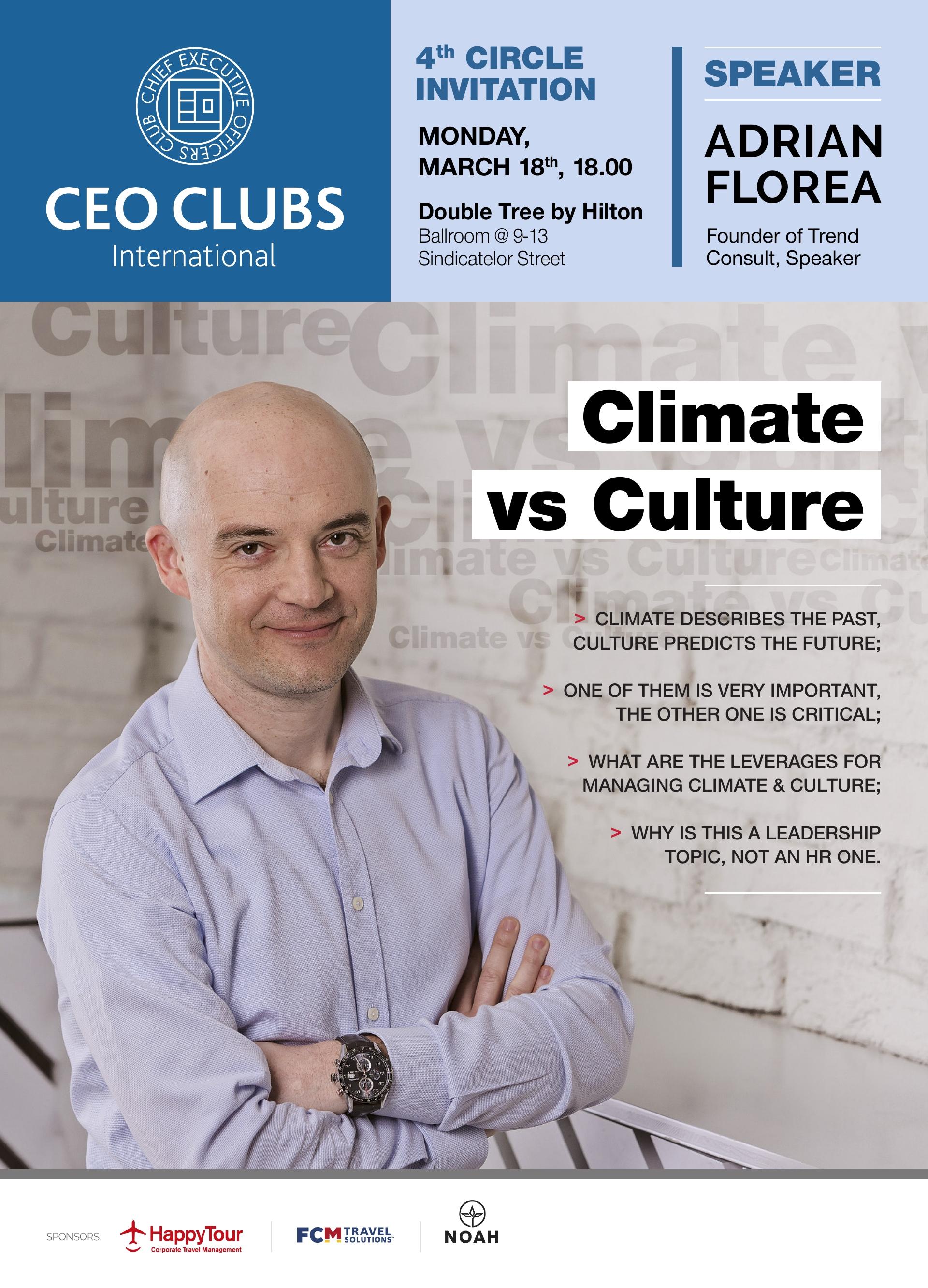 4th Circle: Climate vs Culture