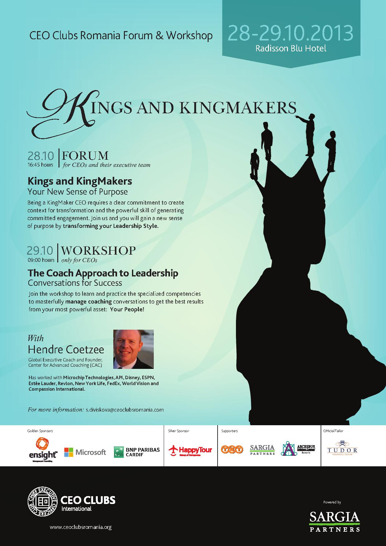 4th Forum: Kings and KingMakers