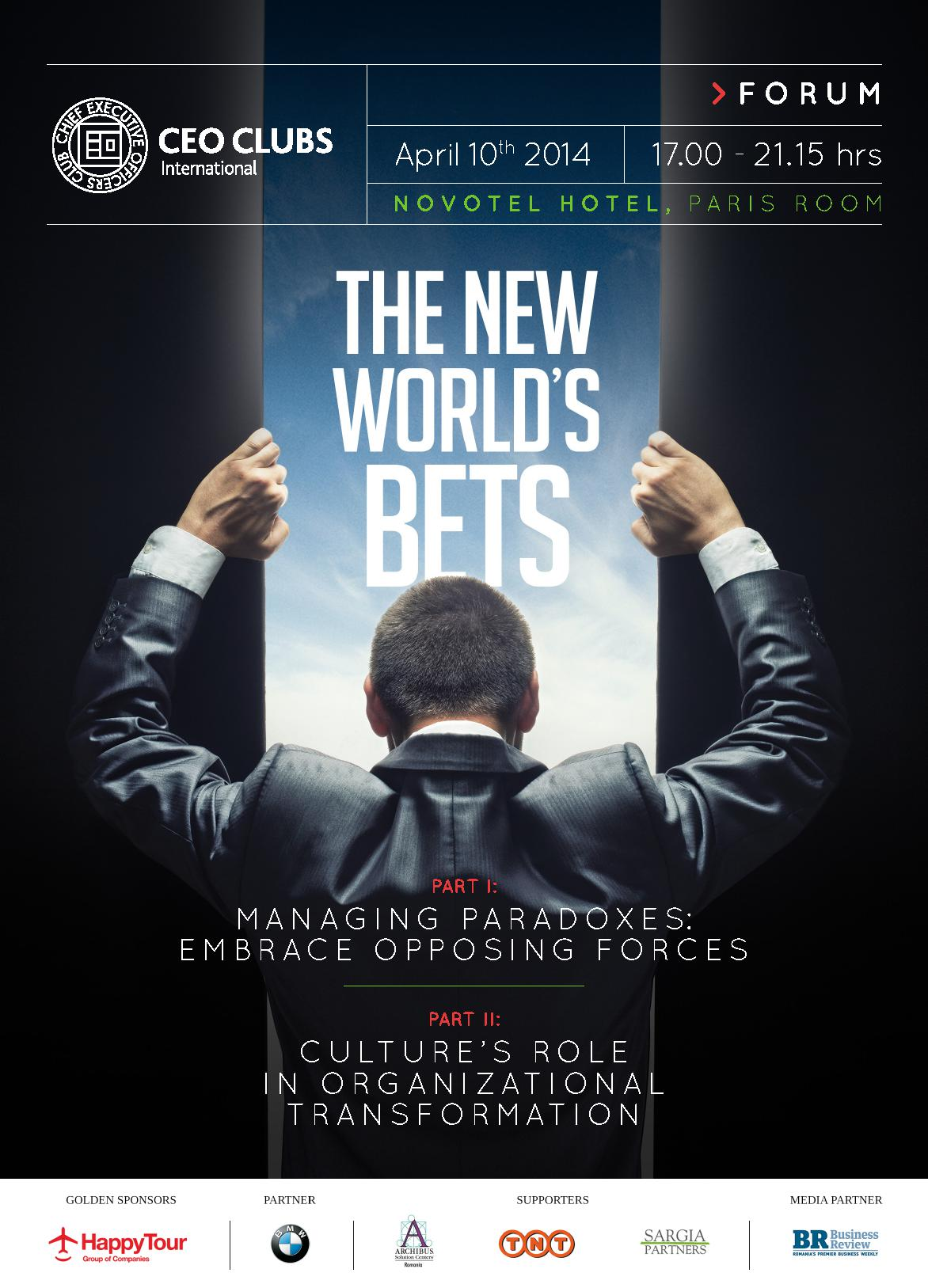 5th CEO Clubs Forum: The New World's Bets