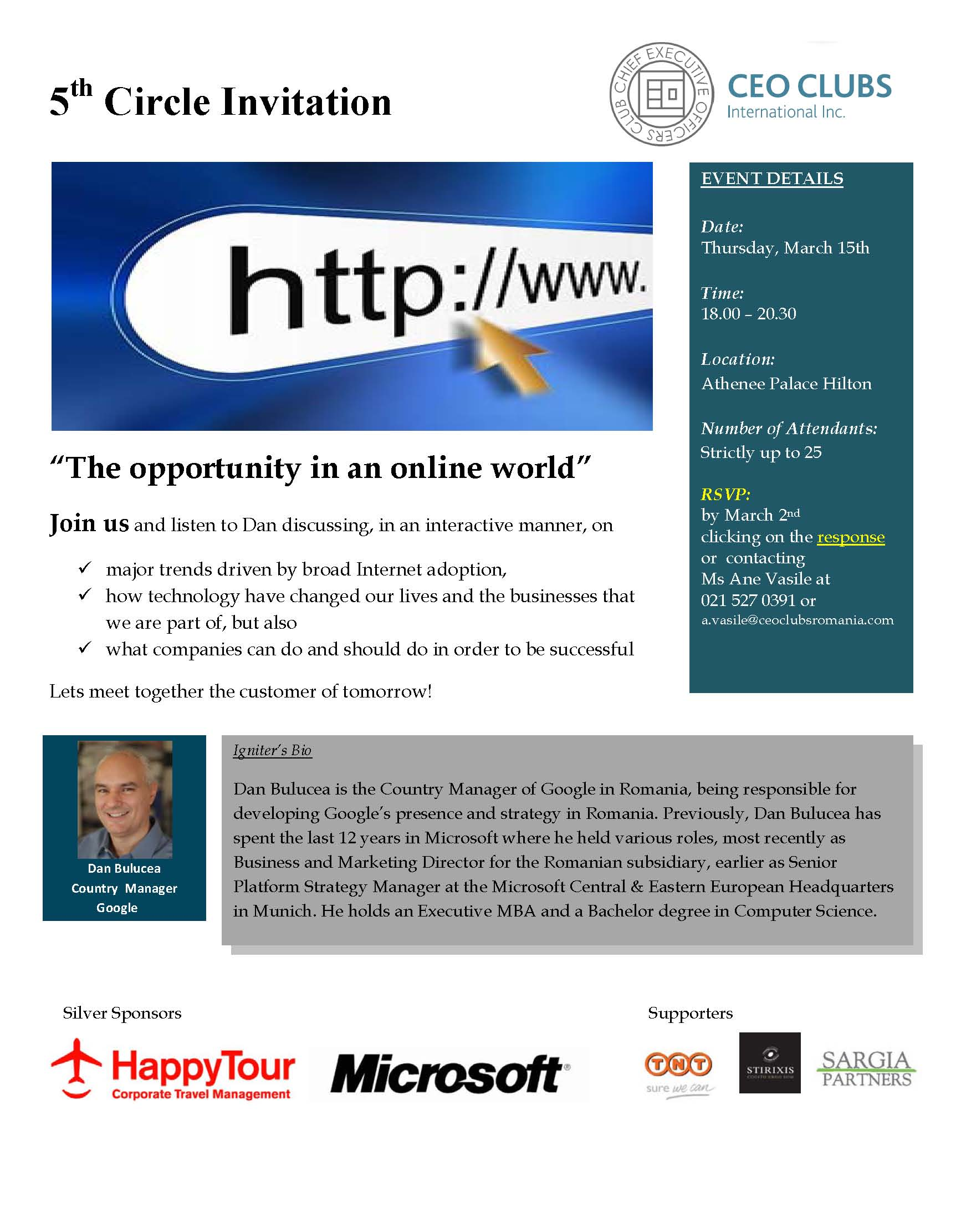 5th Circle: The opportunity in an online world