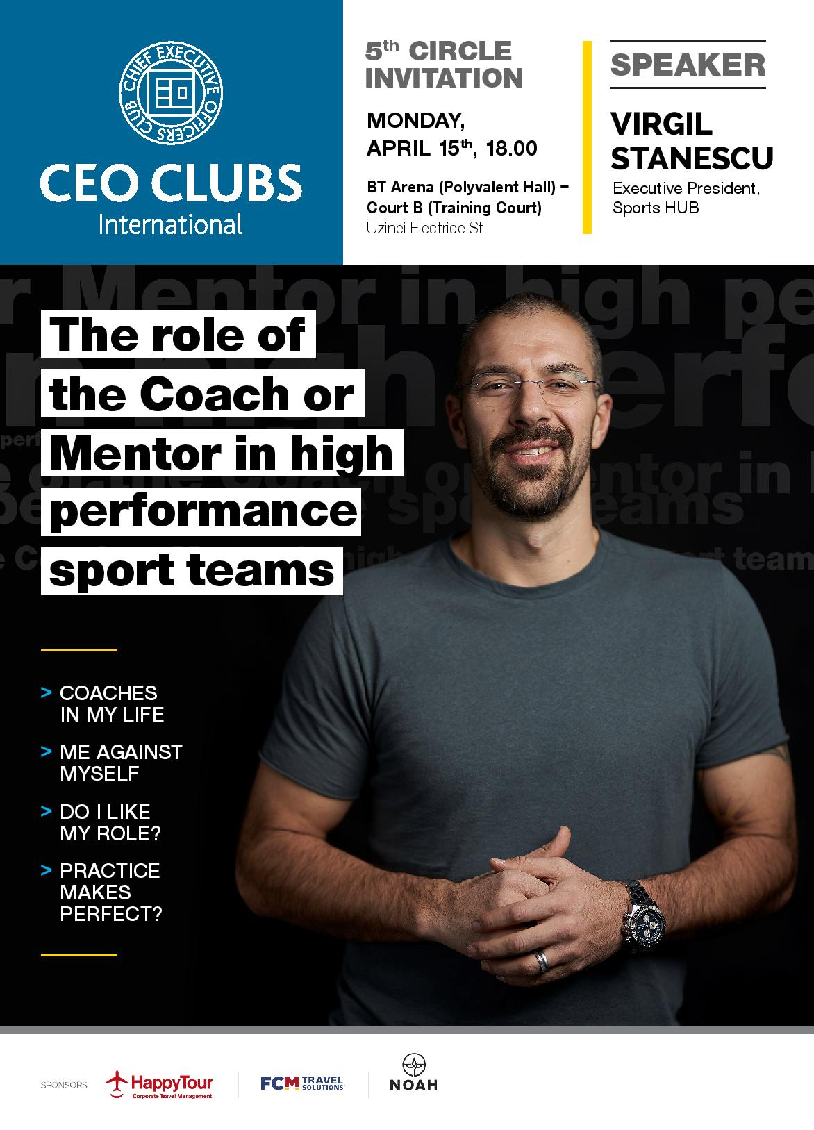 5th Circle: The role of the Coach or Mentor in high performance sport teams