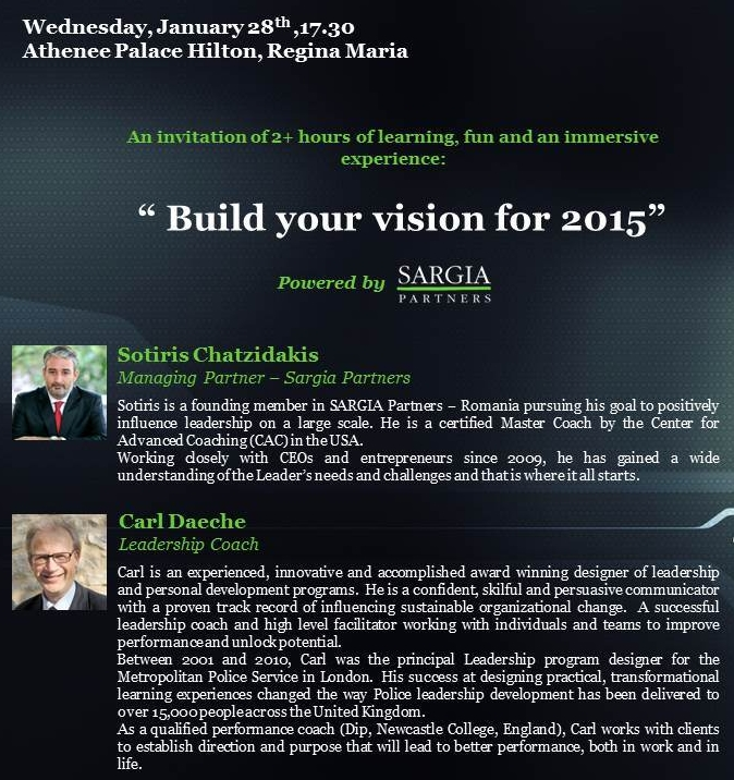 5th Next Gen Event: Build Your Vision for 2015