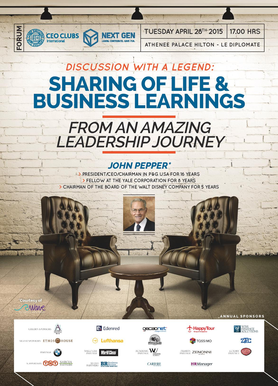 7th CEO Clubs Forum: Sharing of Life & Business Learnings from an amazing Leadership Journey