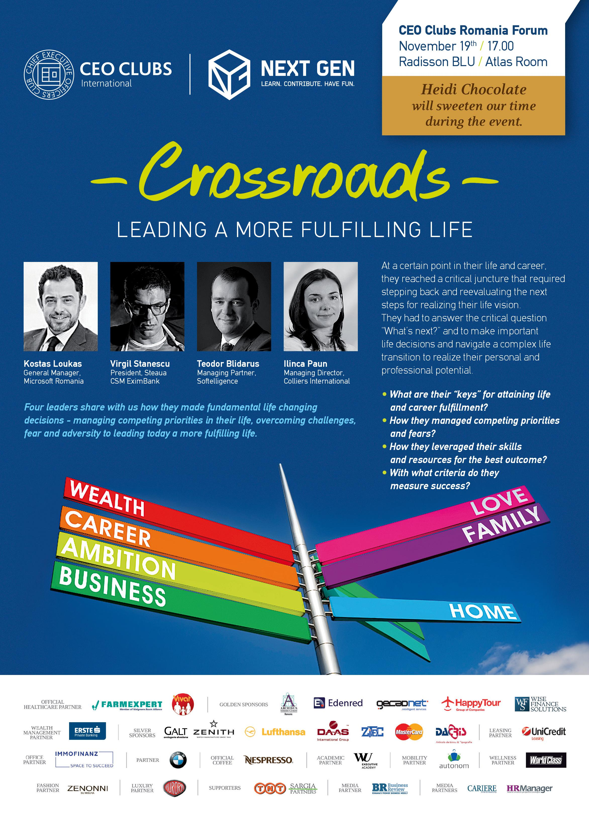8th Forum: Crossroads ~ Leading a more fulfilling life