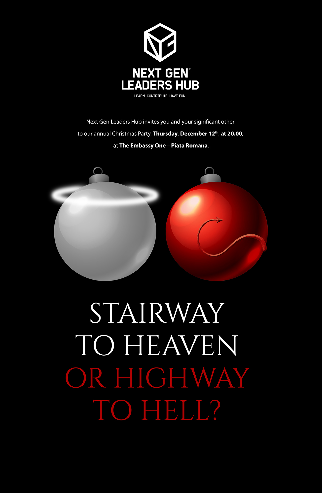 Christmas Party - Stairway to Heaven or Highway to Hell