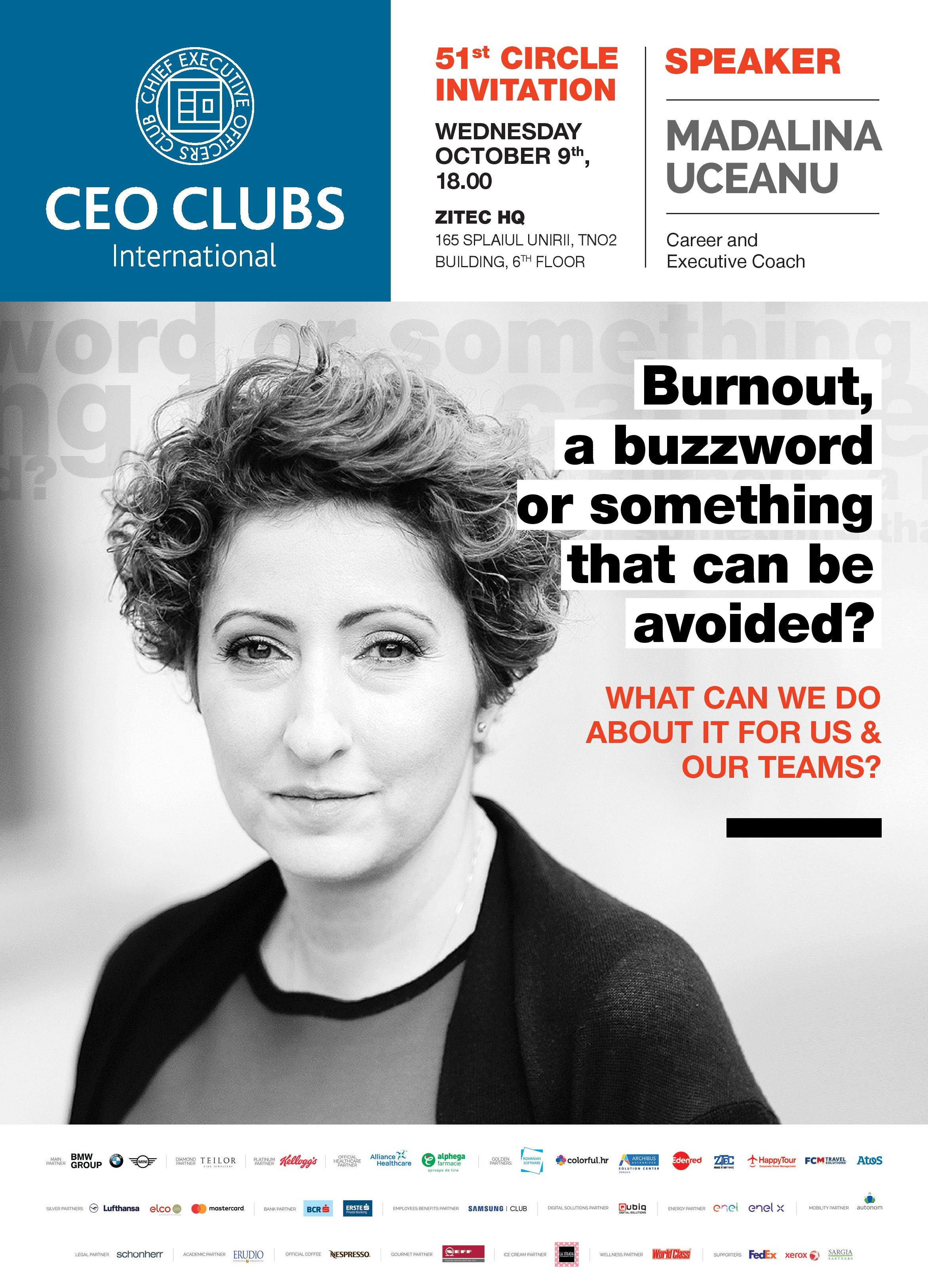 Circle: Burnout, a buzzword or something that can be avoided?