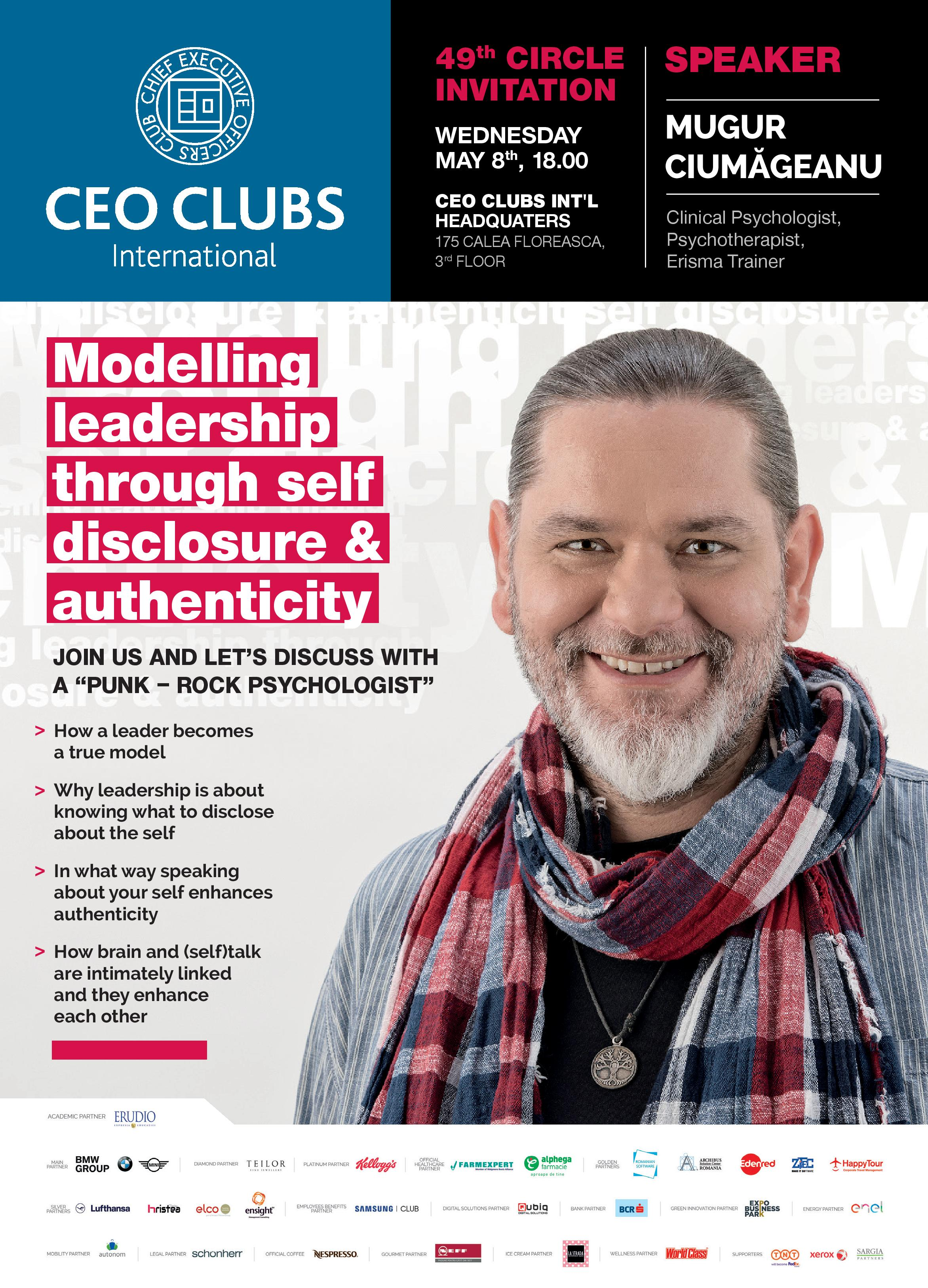 FULLY BOOKED! 49th Circle: Modelling leadership through self disclosure & authenticity