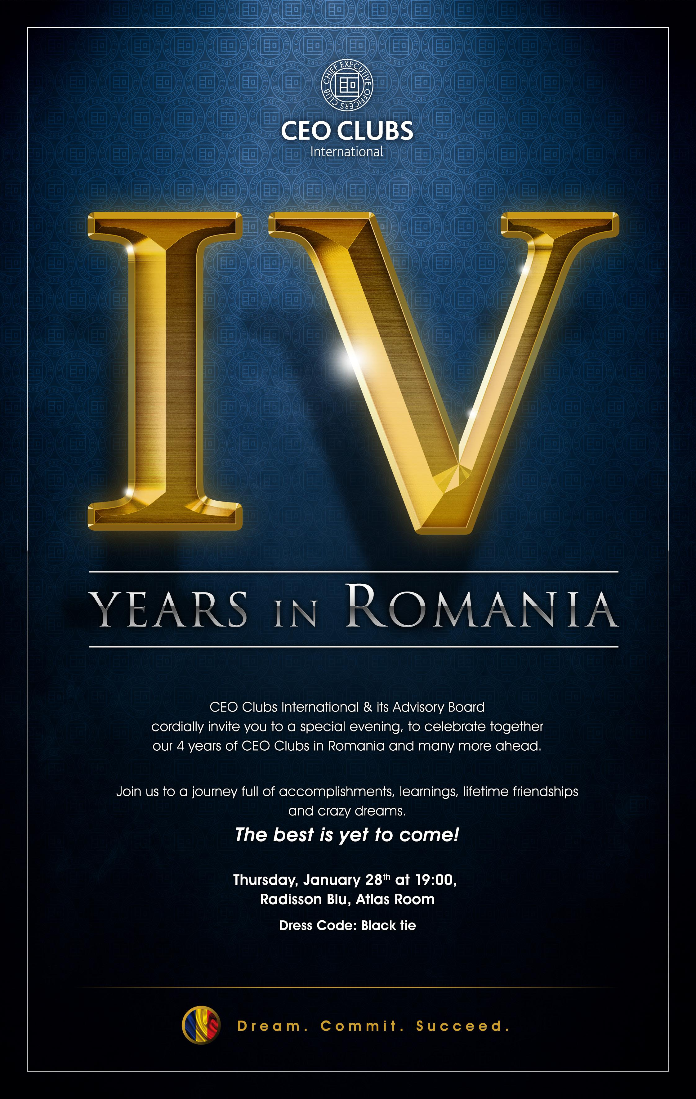 IV Years of CEO Clubs in Romania