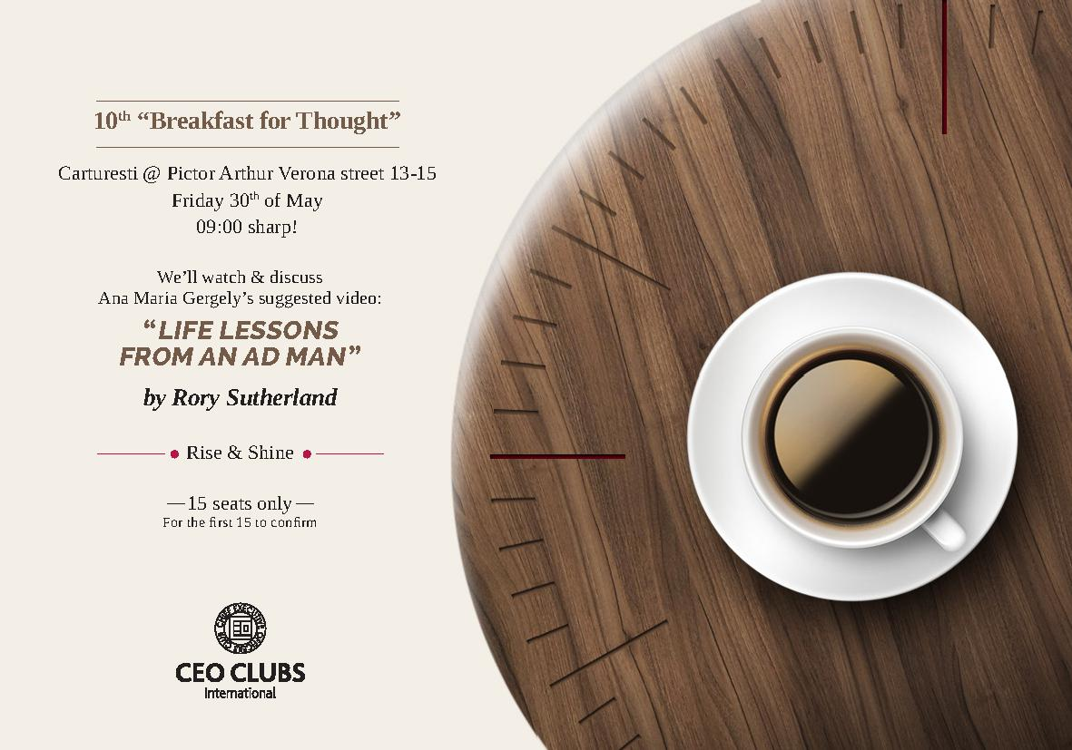 "10th Breakfast for Thought: ""Life lessons from an ad man"""