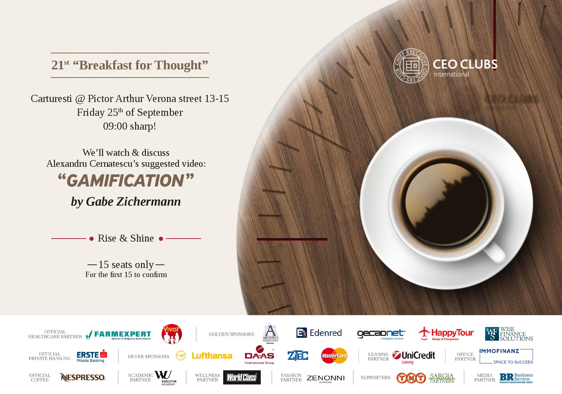 "21st Breakfast for Thought: ""Gamification"""