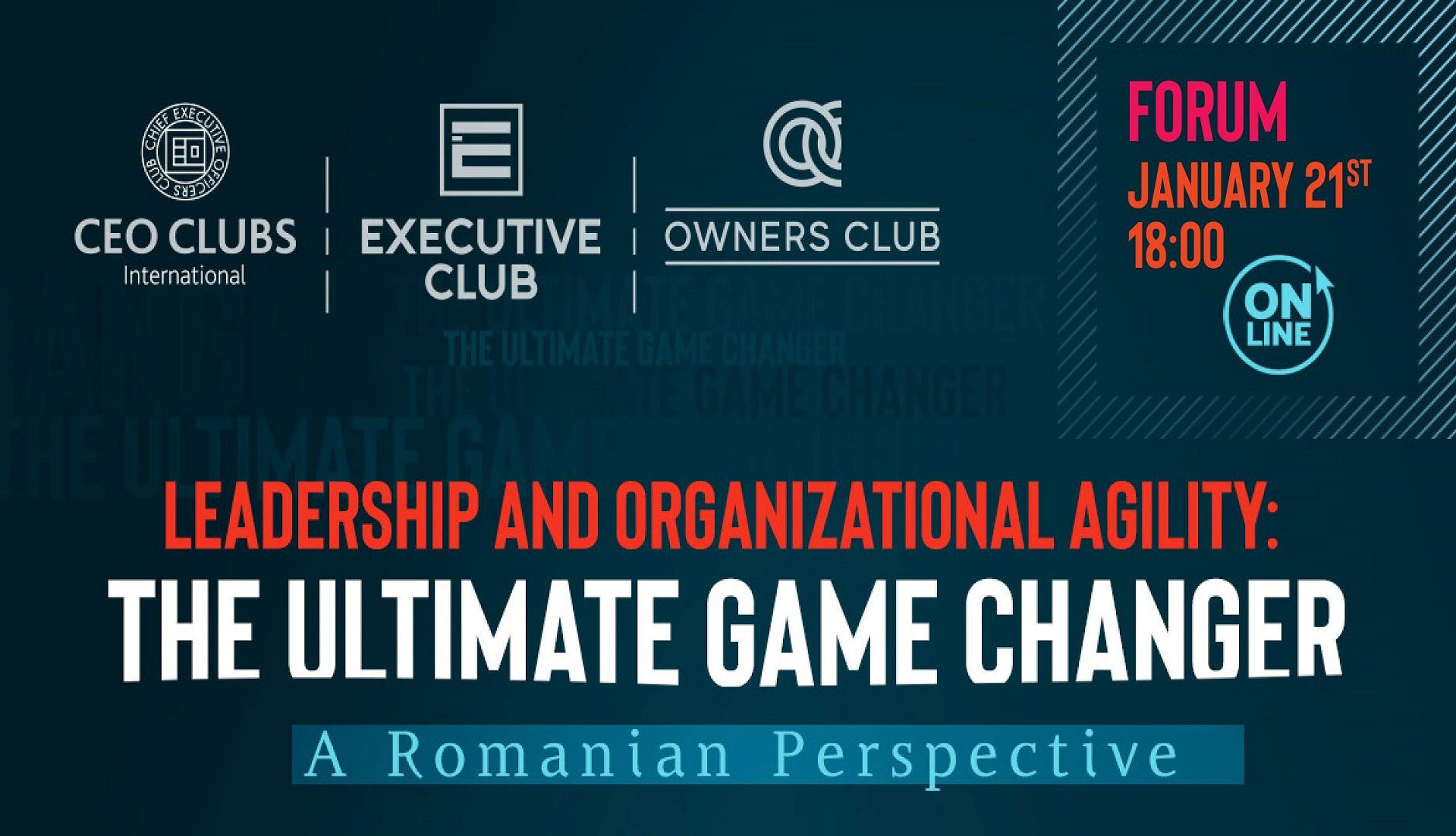 Online Forum - Leadership and organizational agility: The ultimate game changer