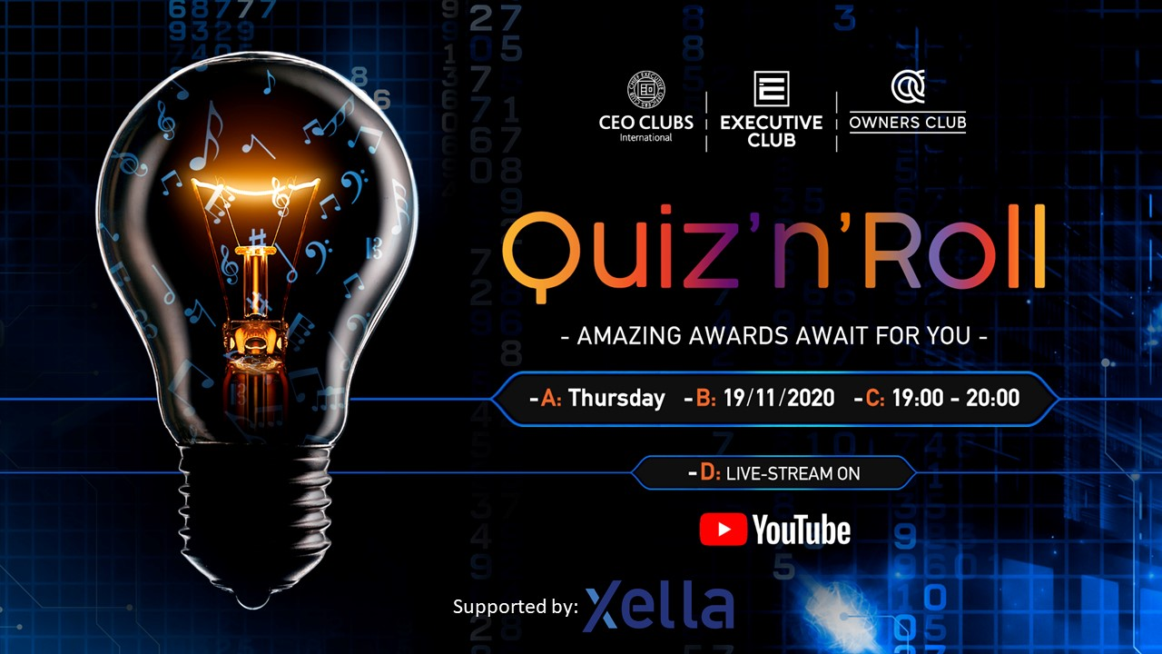 Quiz'n'Roll - an online Clubs' quiz evening