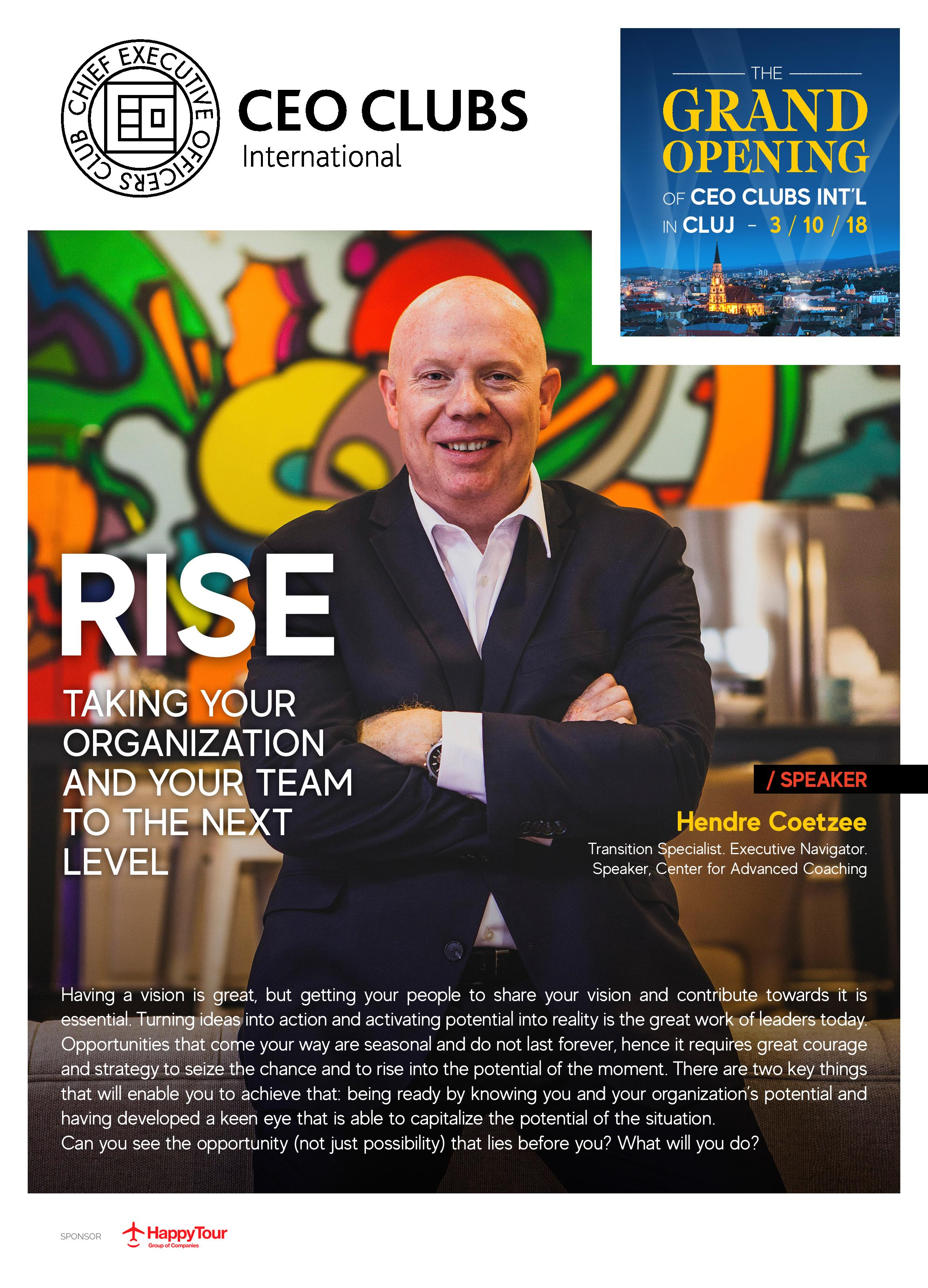 RISE Taking your organization and your team to the next level