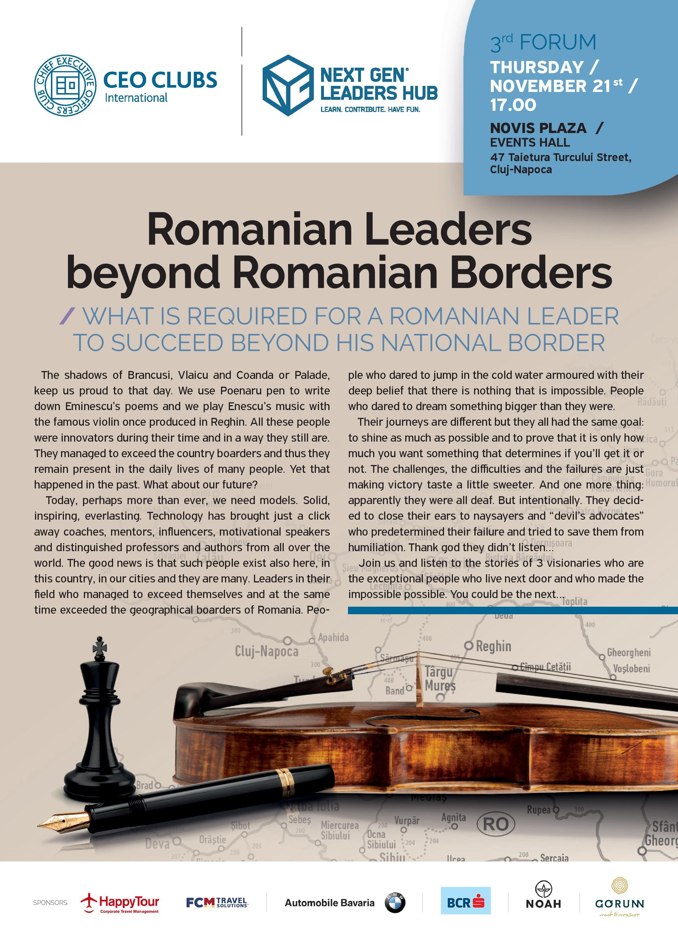 3rd Forum: Romanian Leaders beyond Romanian Boarders