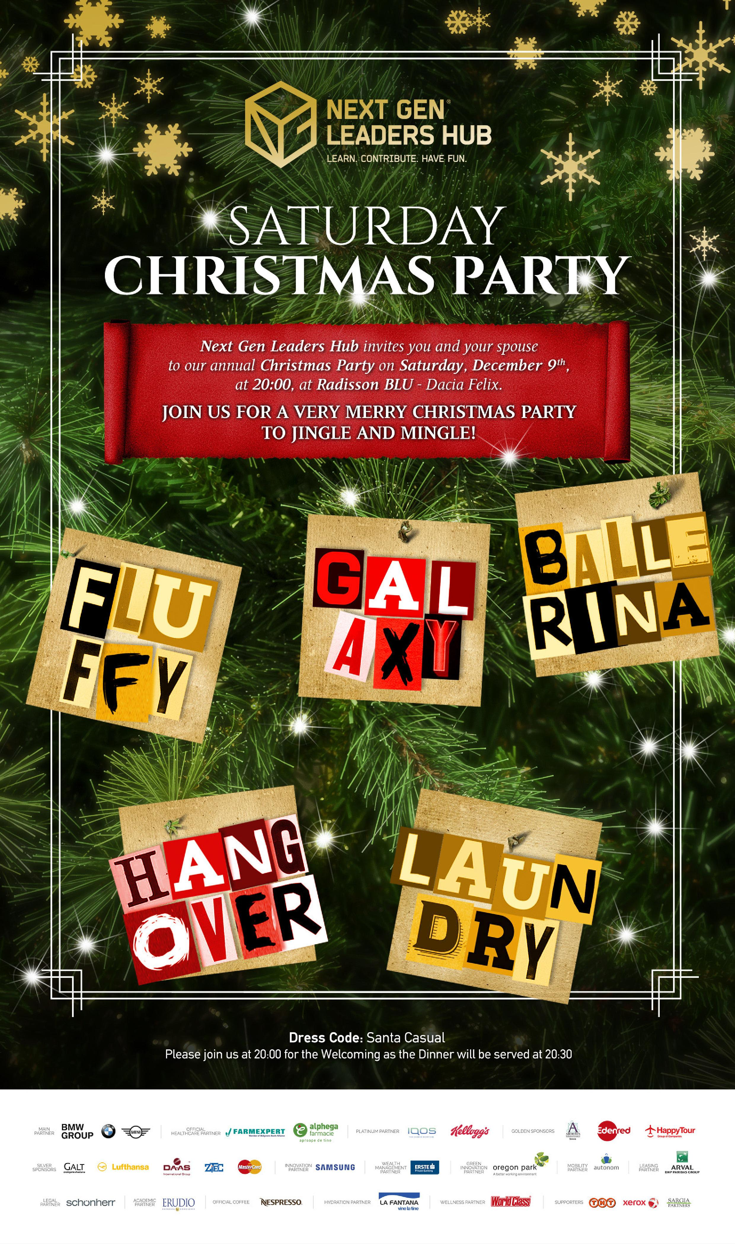 Saturday Christmas Party 2017