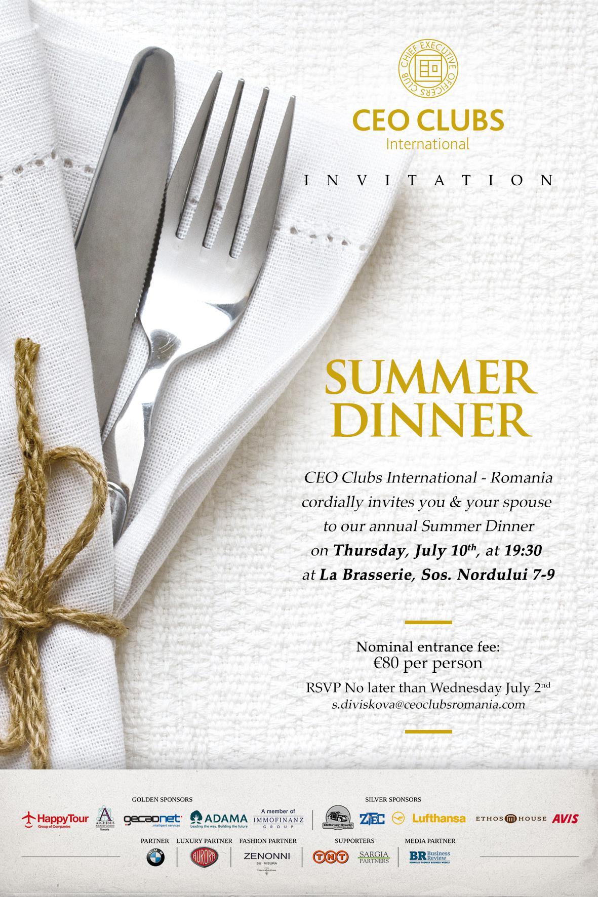 Summer Dinner 2014