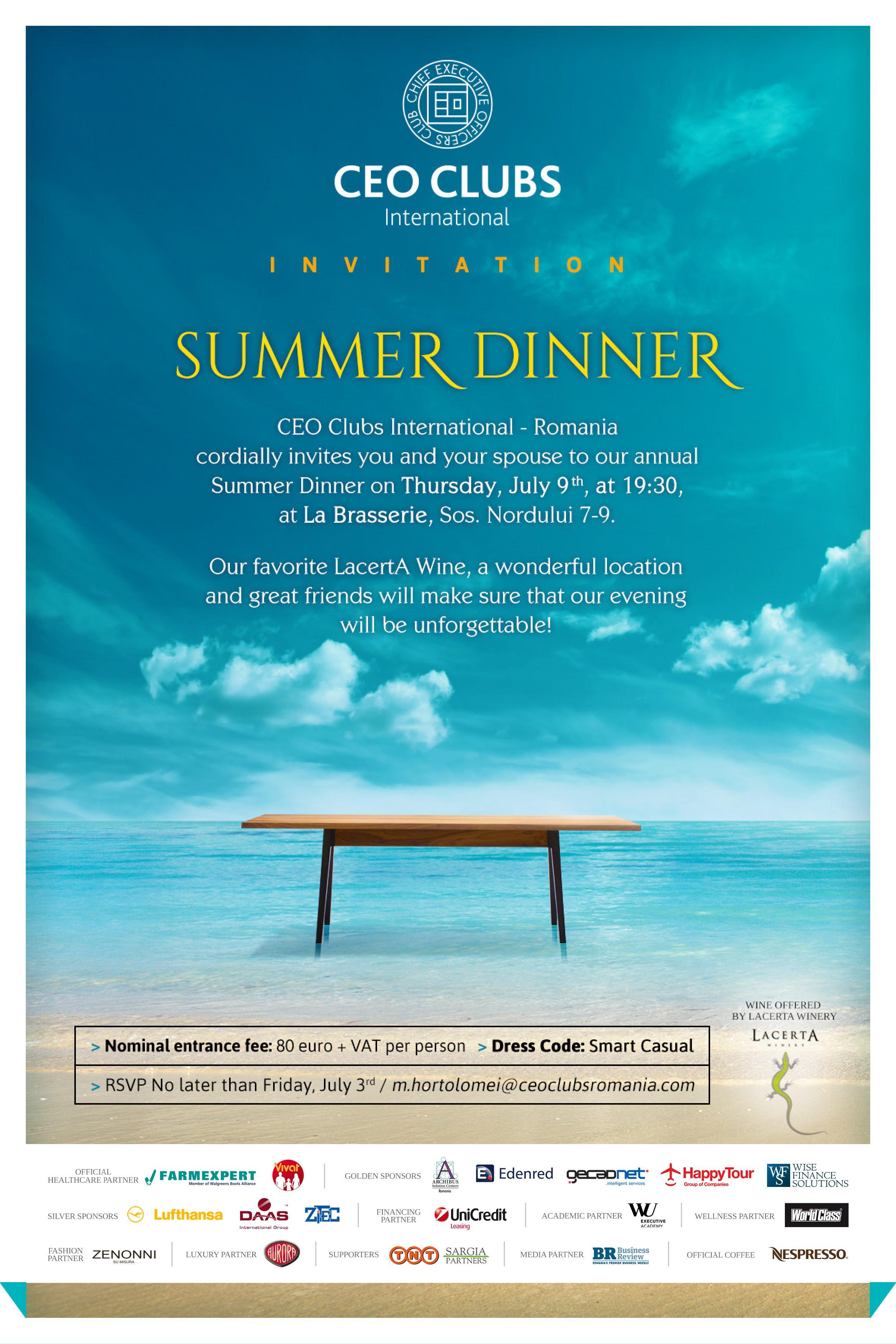 Summer Dinner 2015