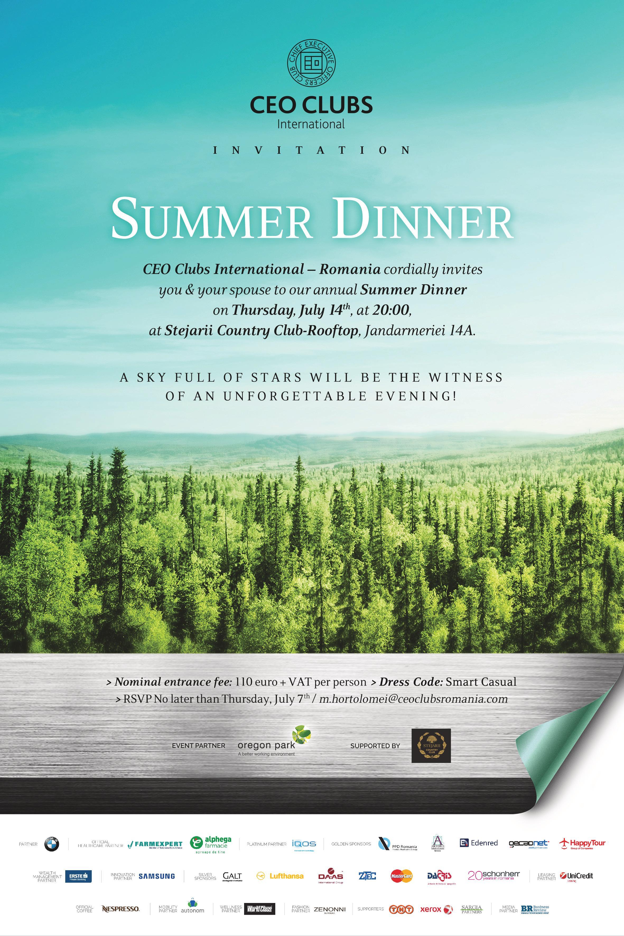 Summer Dinner 2016