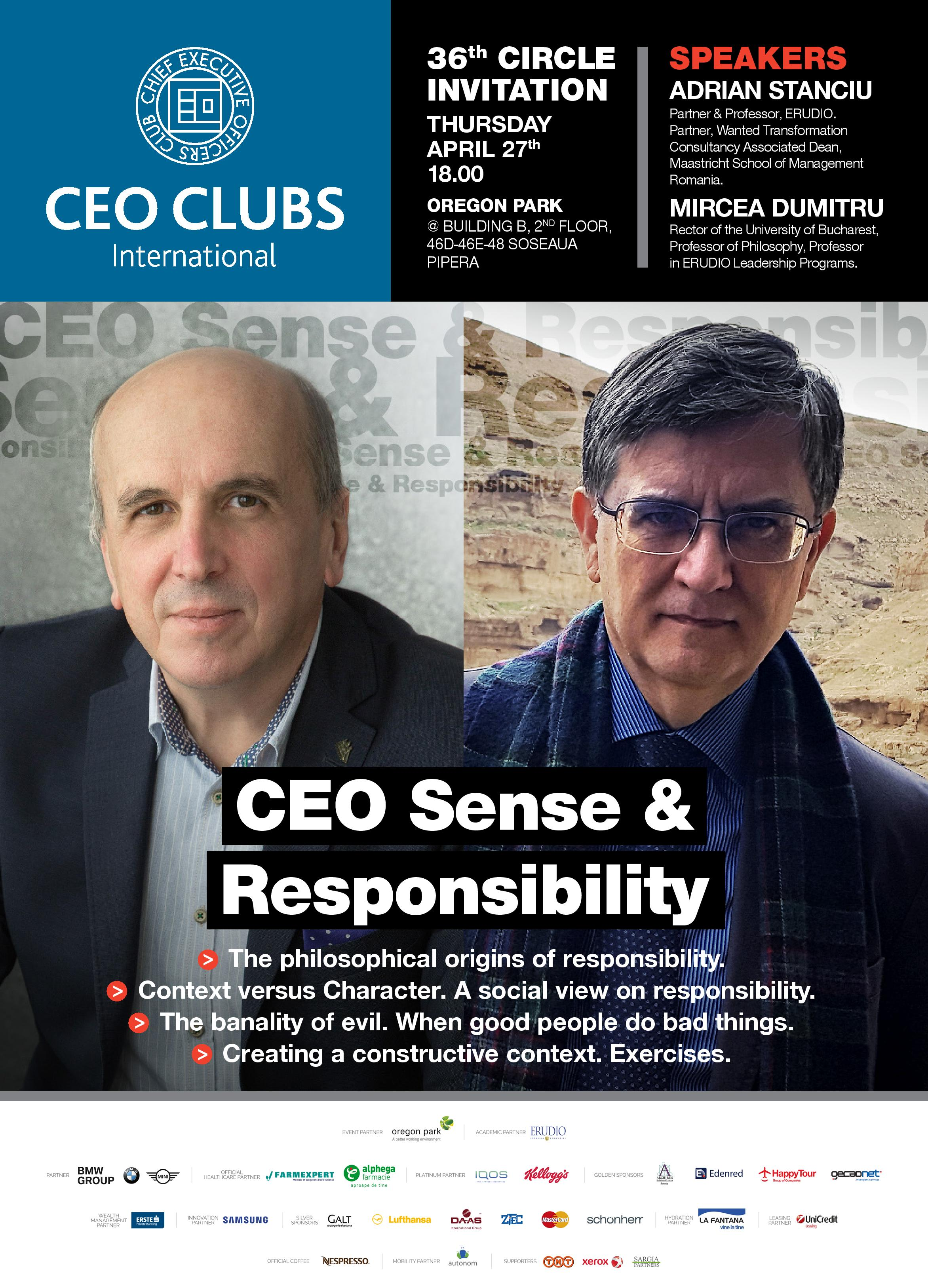The 36th Circle: CEO Sense and Responsibility