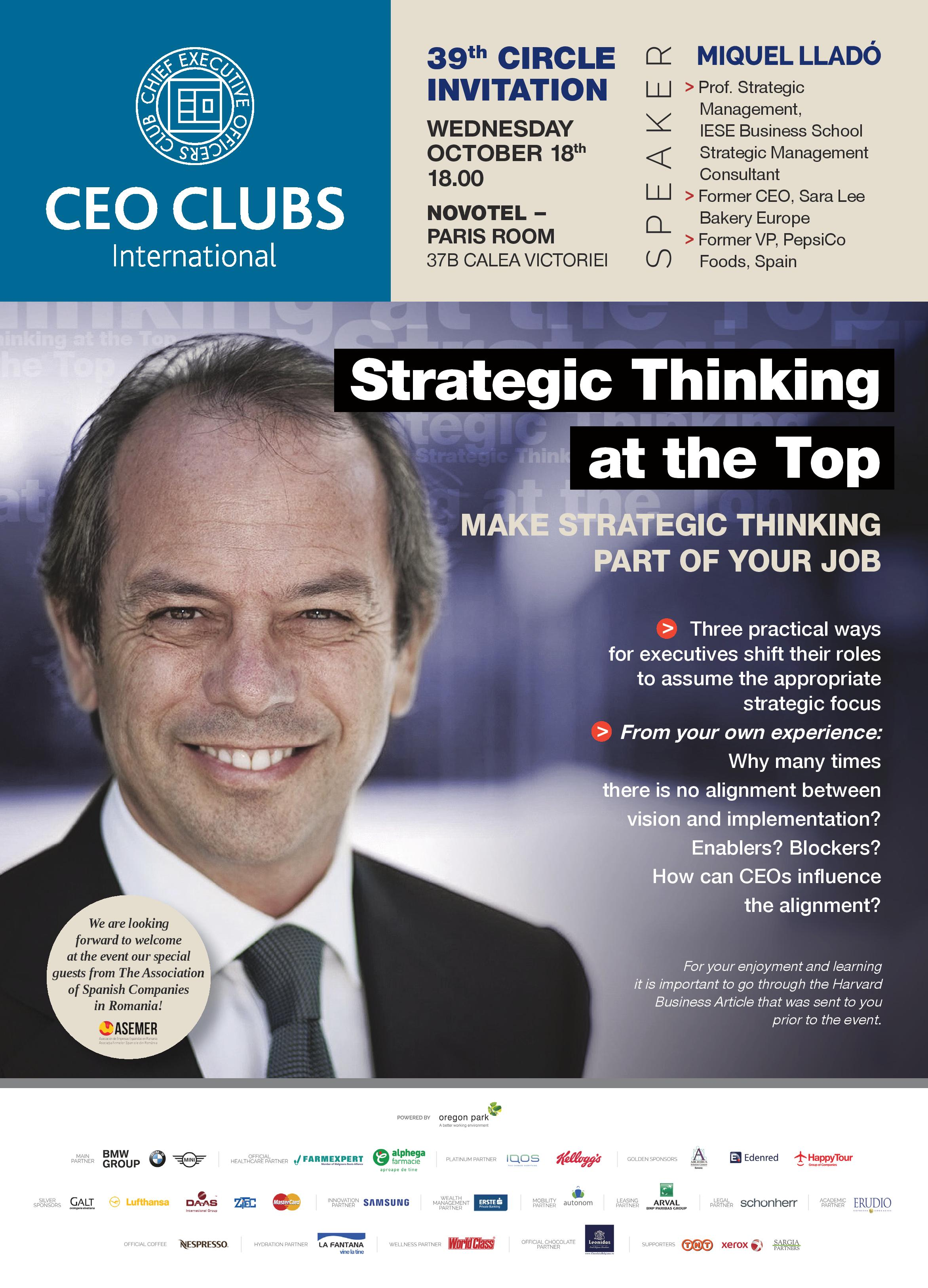 The 39th Circle: Strategic Thinking at the Top