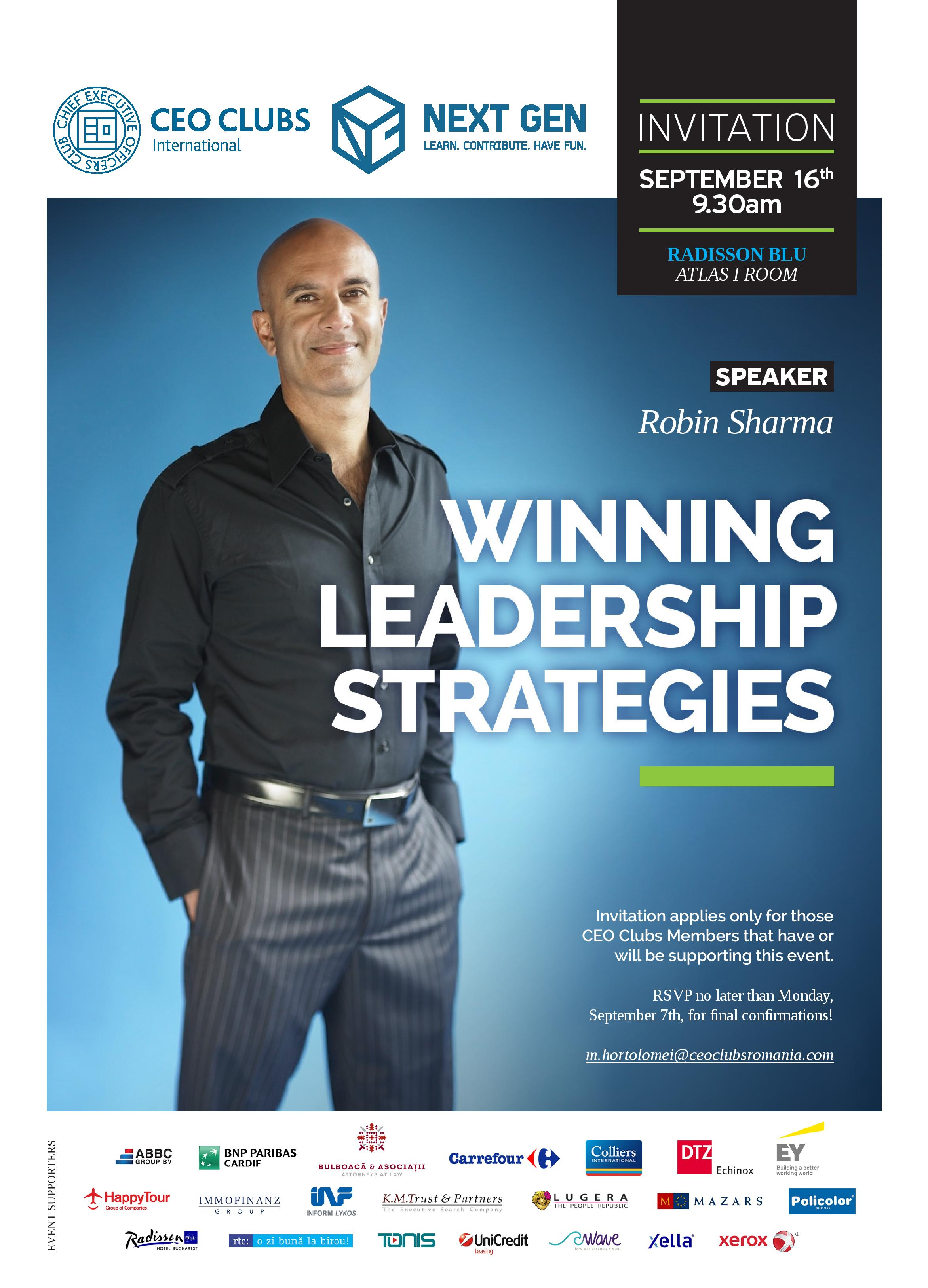 Winning Leadership Strategies